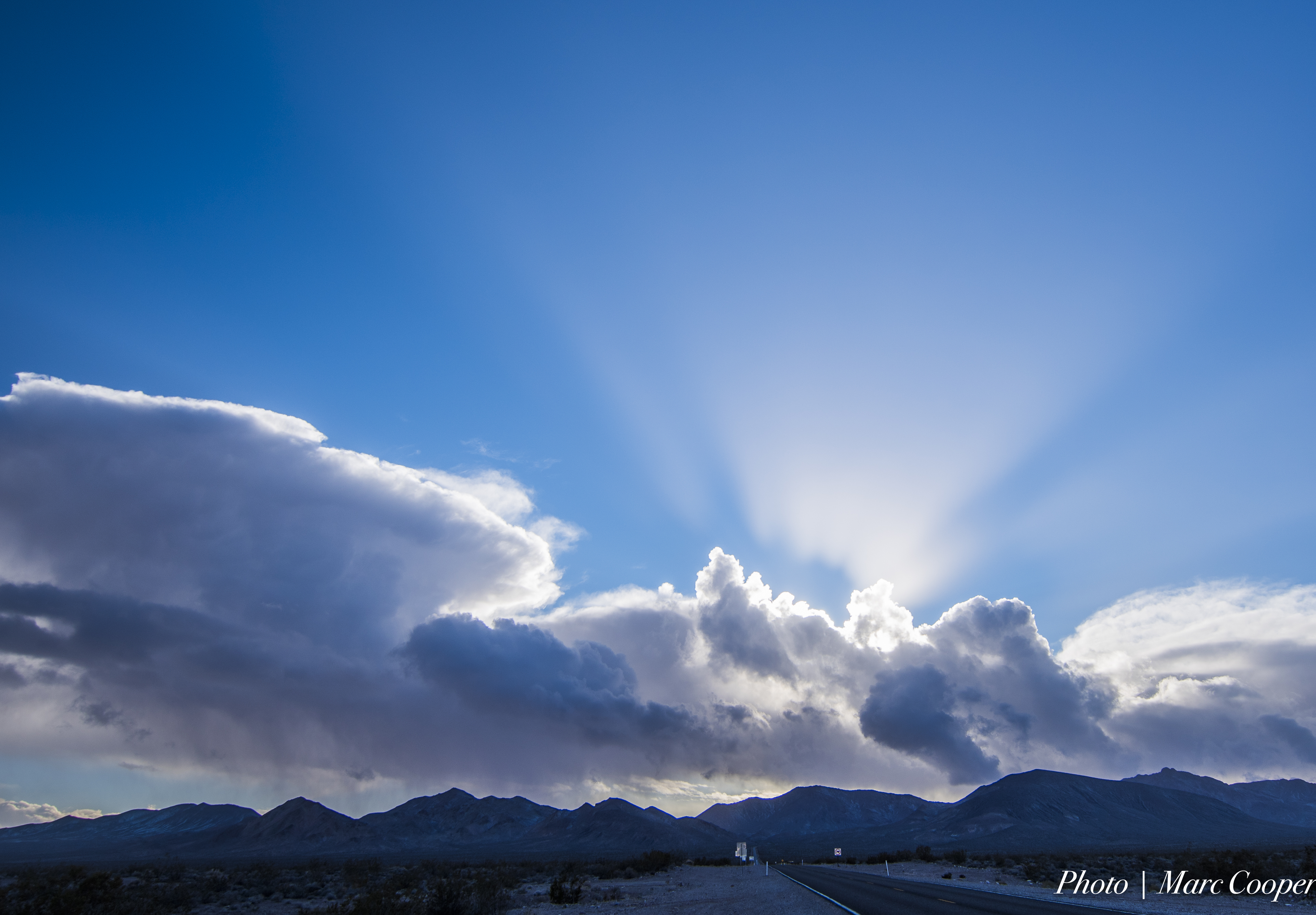 His Majesty The Sun, Blue, Mountain, Sky, Rays, HQ Photo