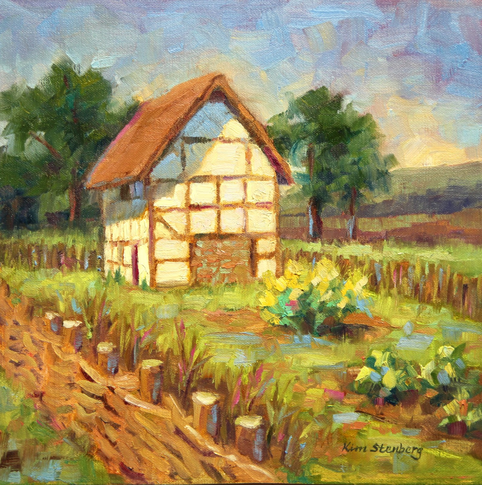 Historic village painting photo