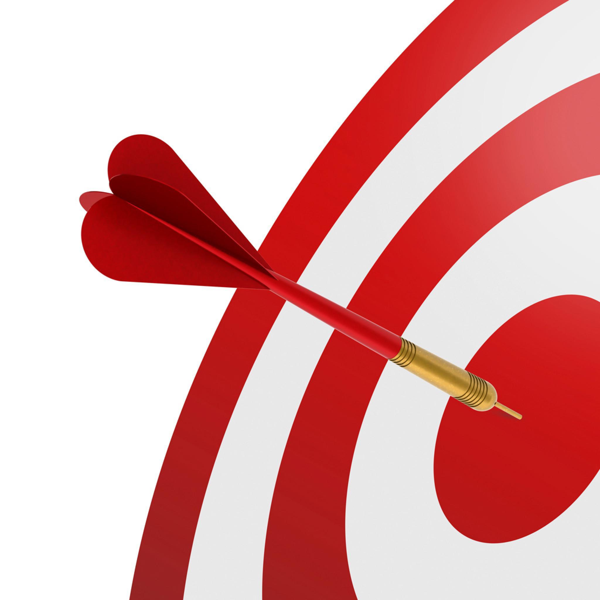 Vector - Darts Hit The Bullseye - iPad iPhone HD Wallpaper Free