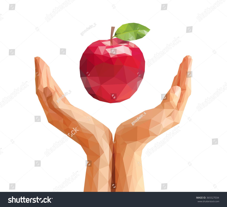 Hands Holding Apple Stock Illustration 365527034 - Shutterstock