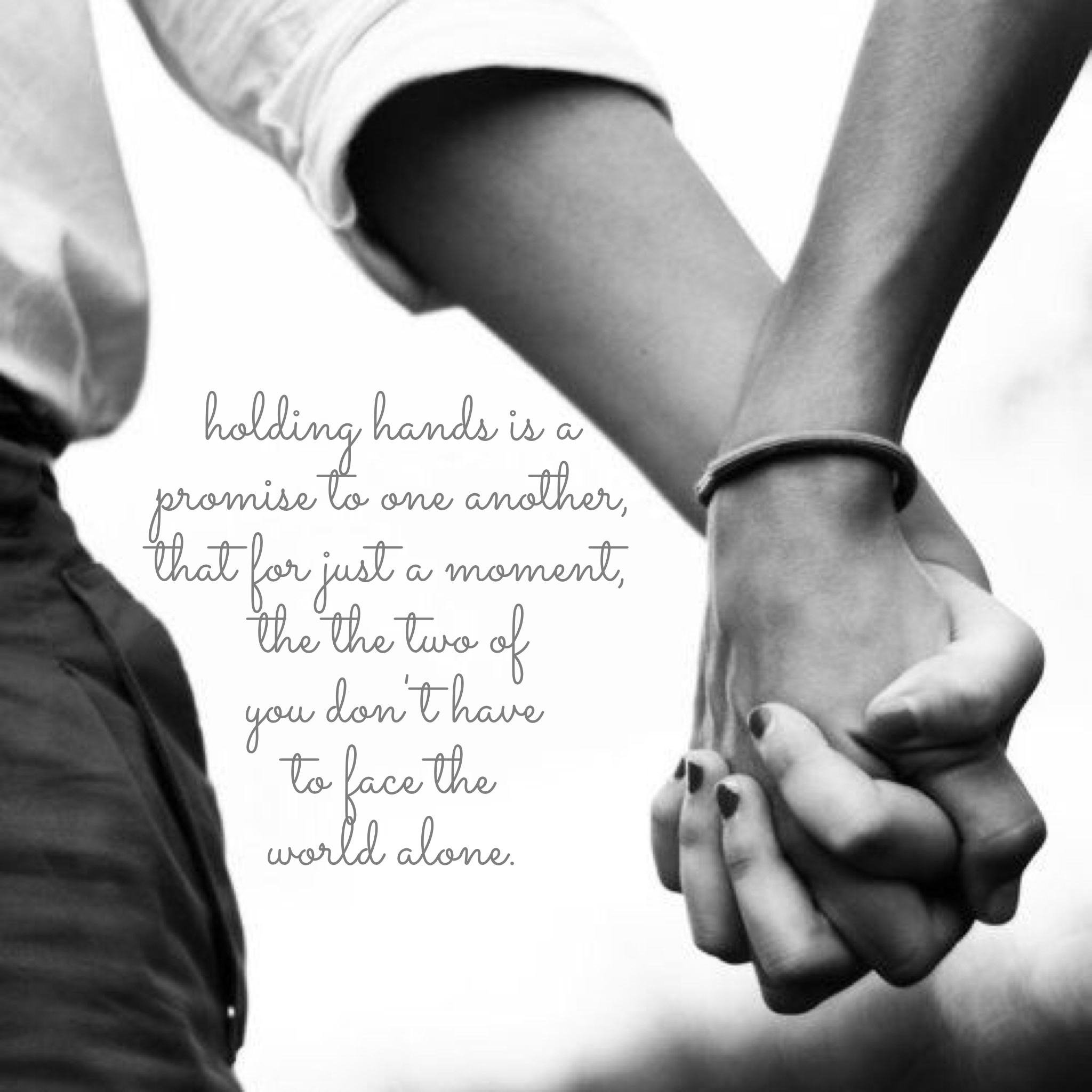 Holding Hands. - Autum Kelley
