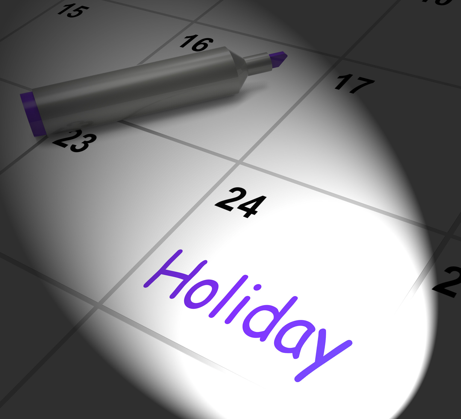 Holiday Calendar Displays Rest Day And Break From Work, Break, Off, Vacation, Timeoff, HQ Photo