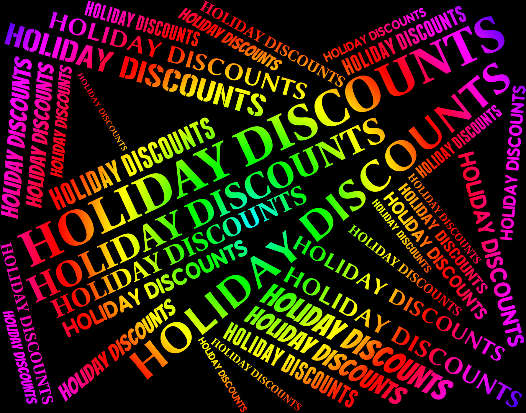 Holiday Discounts Means Go On Leave And Bargain, Bargain, Reduction, Word, Vacations, HQ Photo