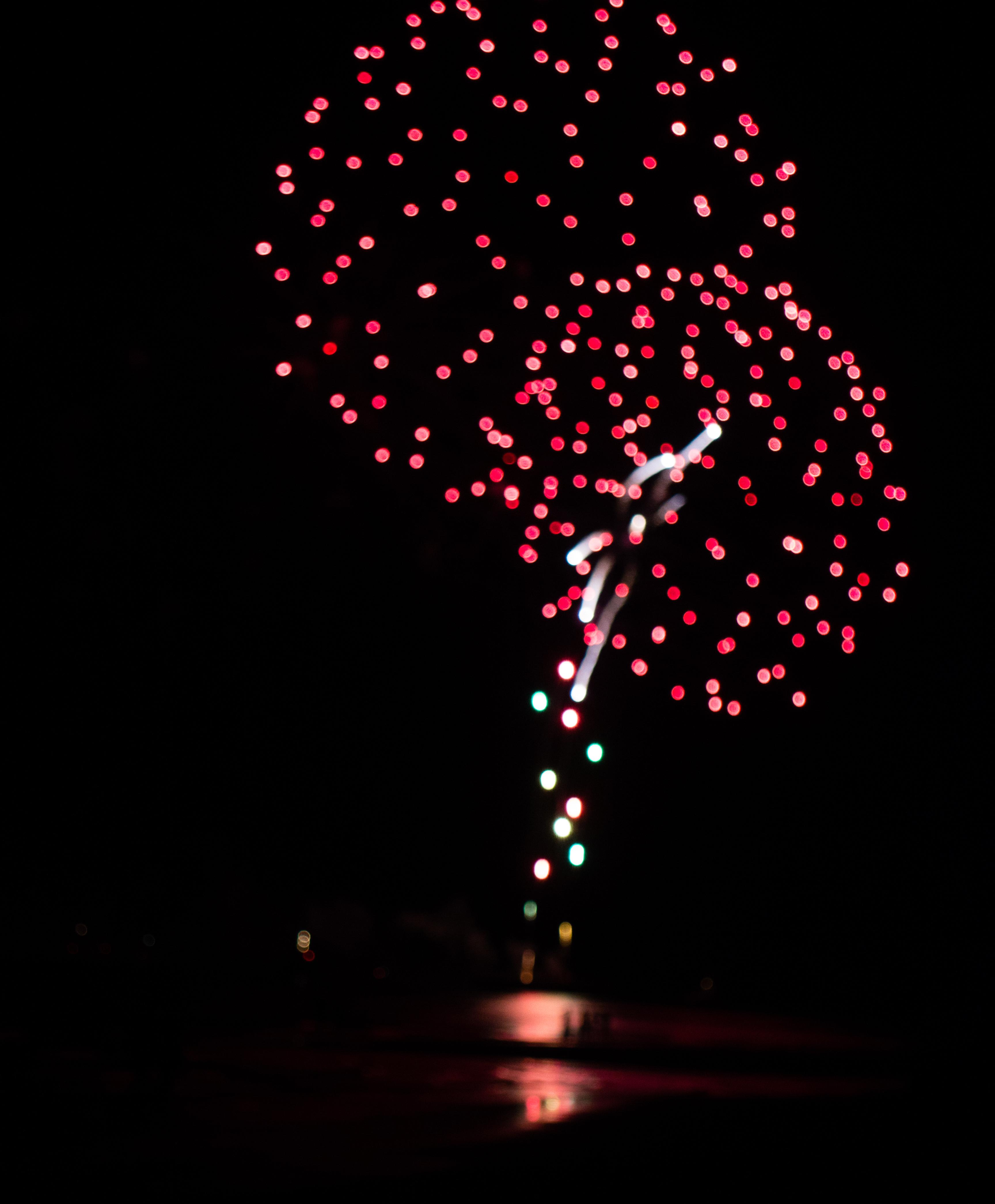 Holland Lights @ International Fireworks Festival, Beach, Lights, Shore, Sea, HQ Photo