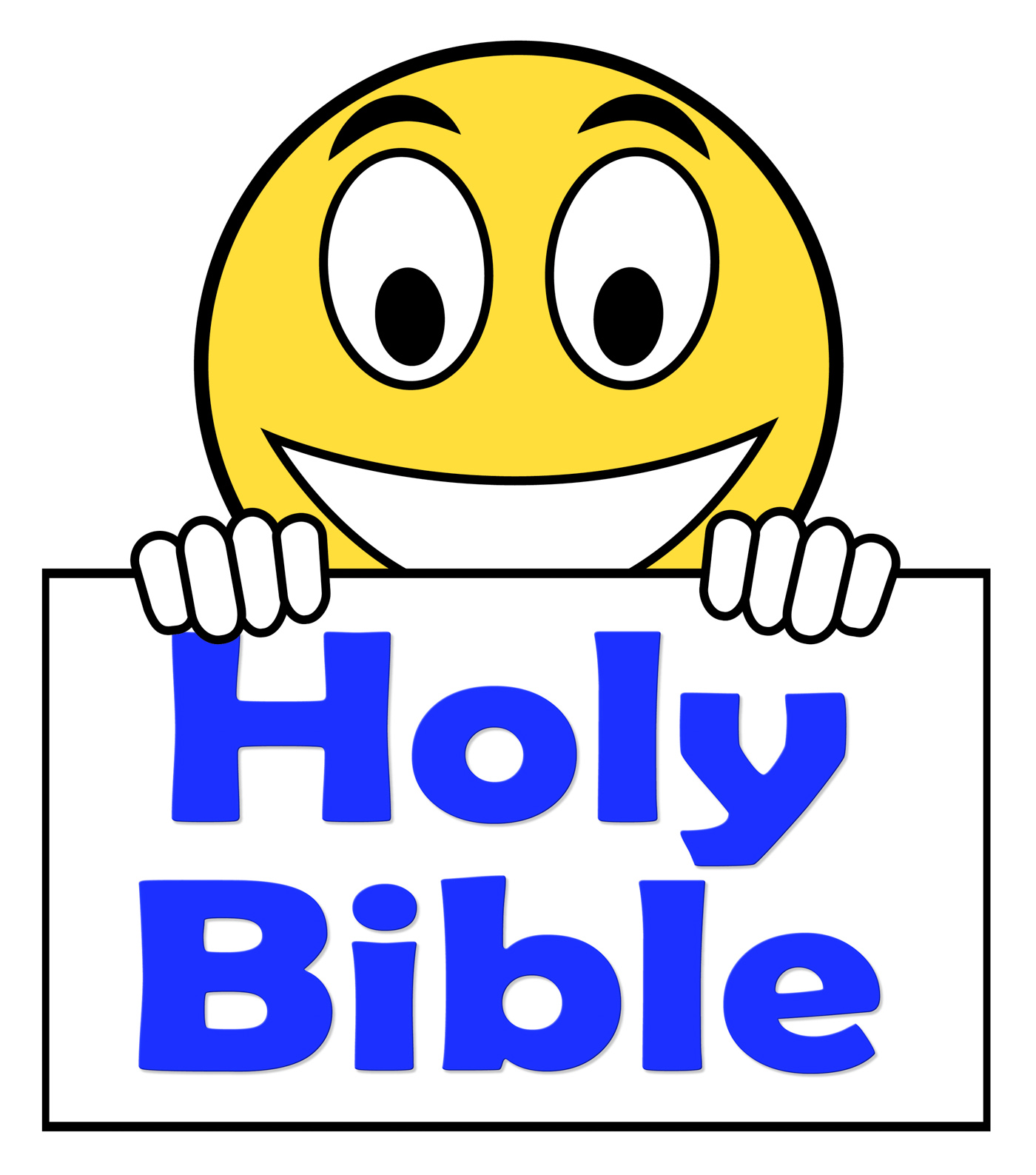 Holy Bible On Sign Shows Religious Book, Belief, Believe, Believing, Bible, HQ Photo