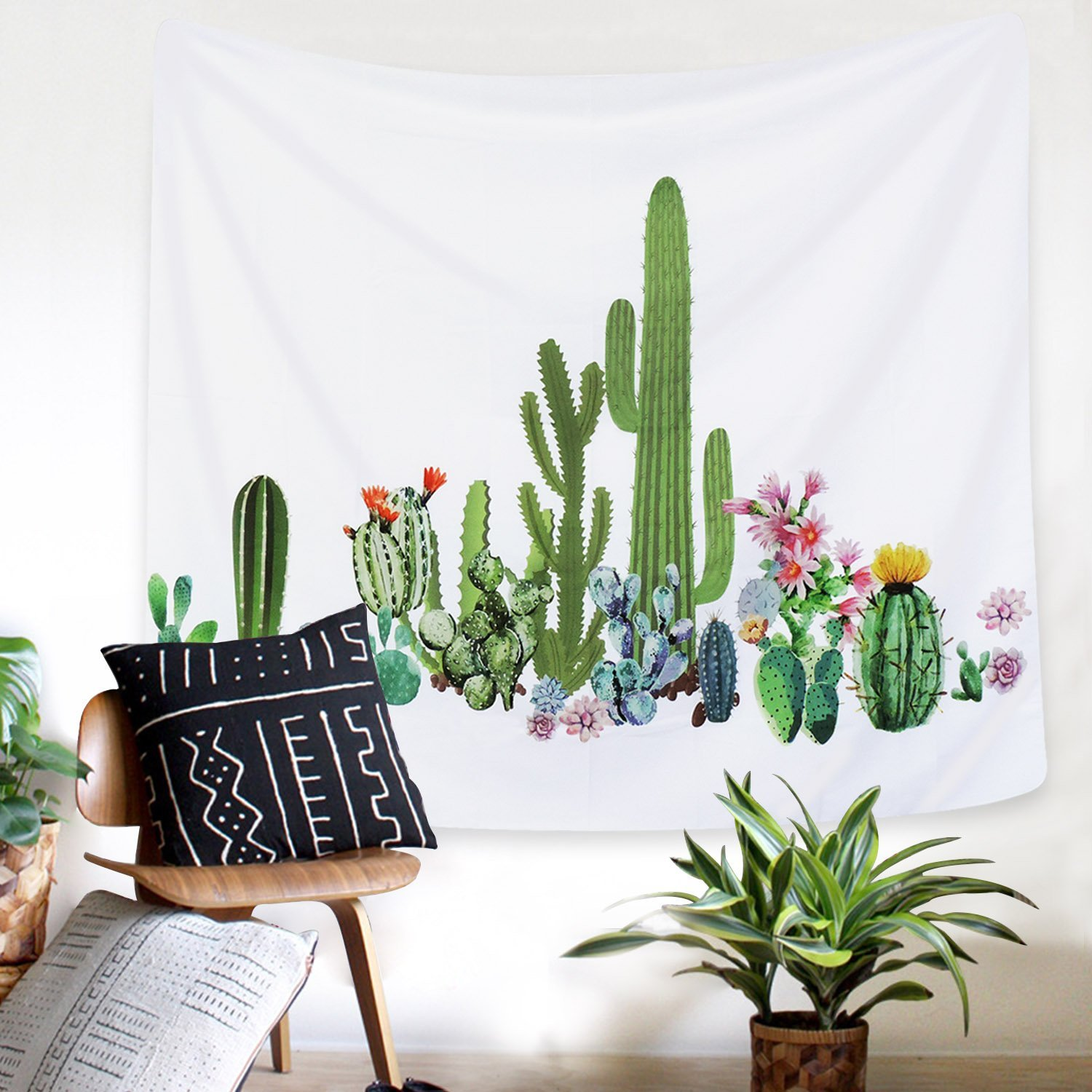 Amazon.com: Sunmner Cactus Tapestry Wall Hanging for Living Room ...