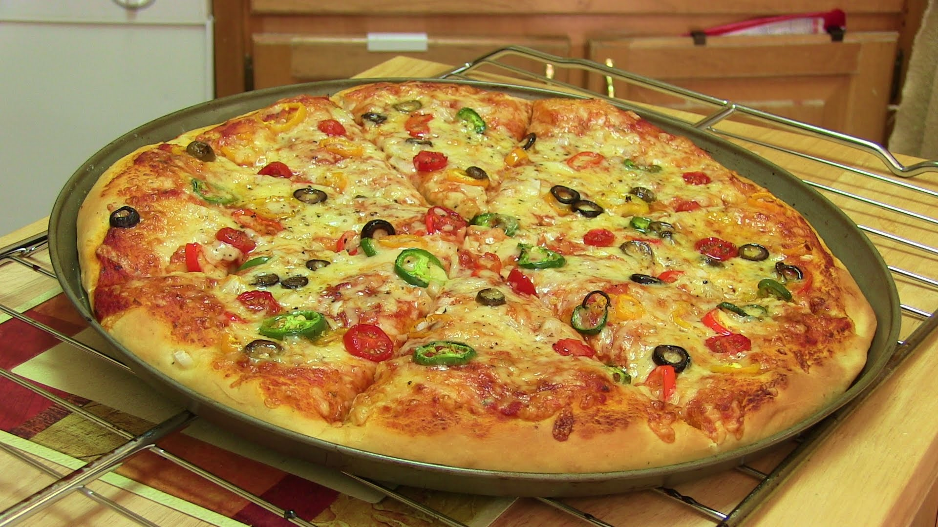 Homemade Pizza Video Recipe⭐ | Start to Finish Pizza Recipe with ...