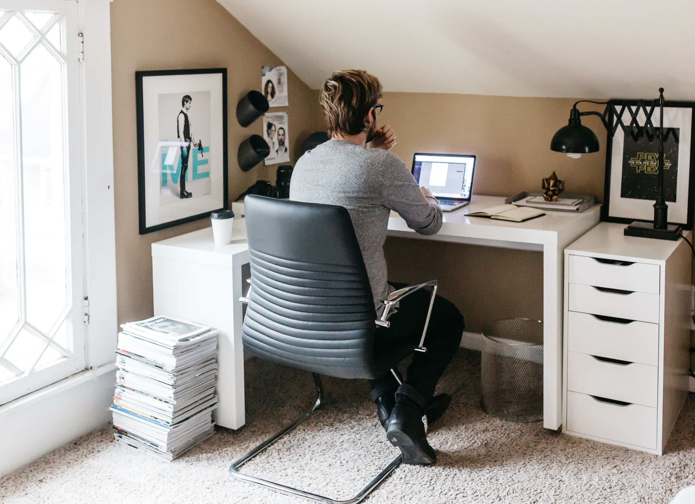 Blogger Home Office | Havenly Design | The Kentucky Gent