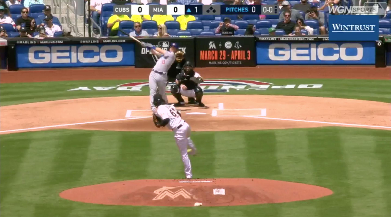 Cubs Ian Happ lead-off home run first pitch of MLB season (video ...