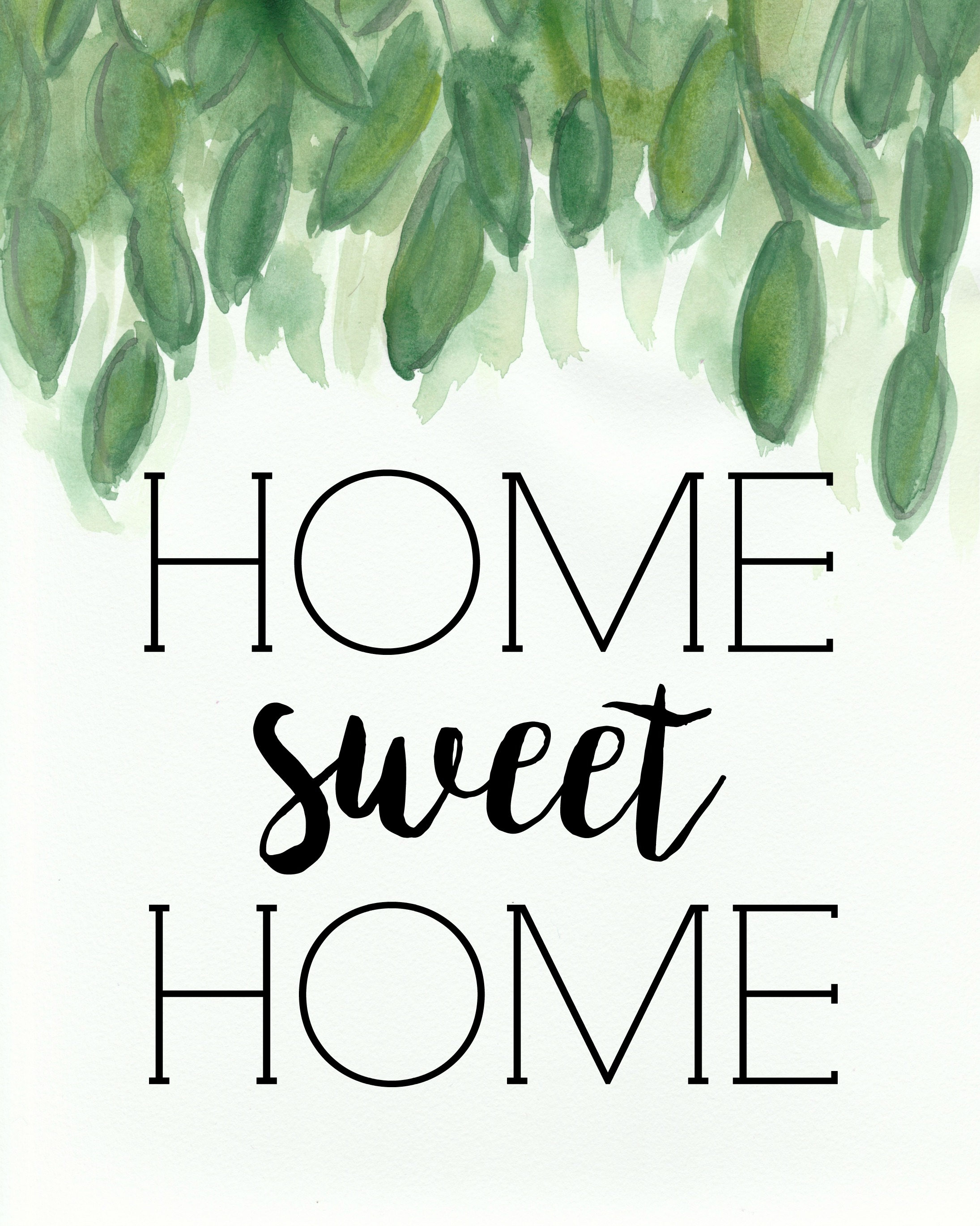 Home Sweet Home Stencil for Painting Wood Signs   Stencil