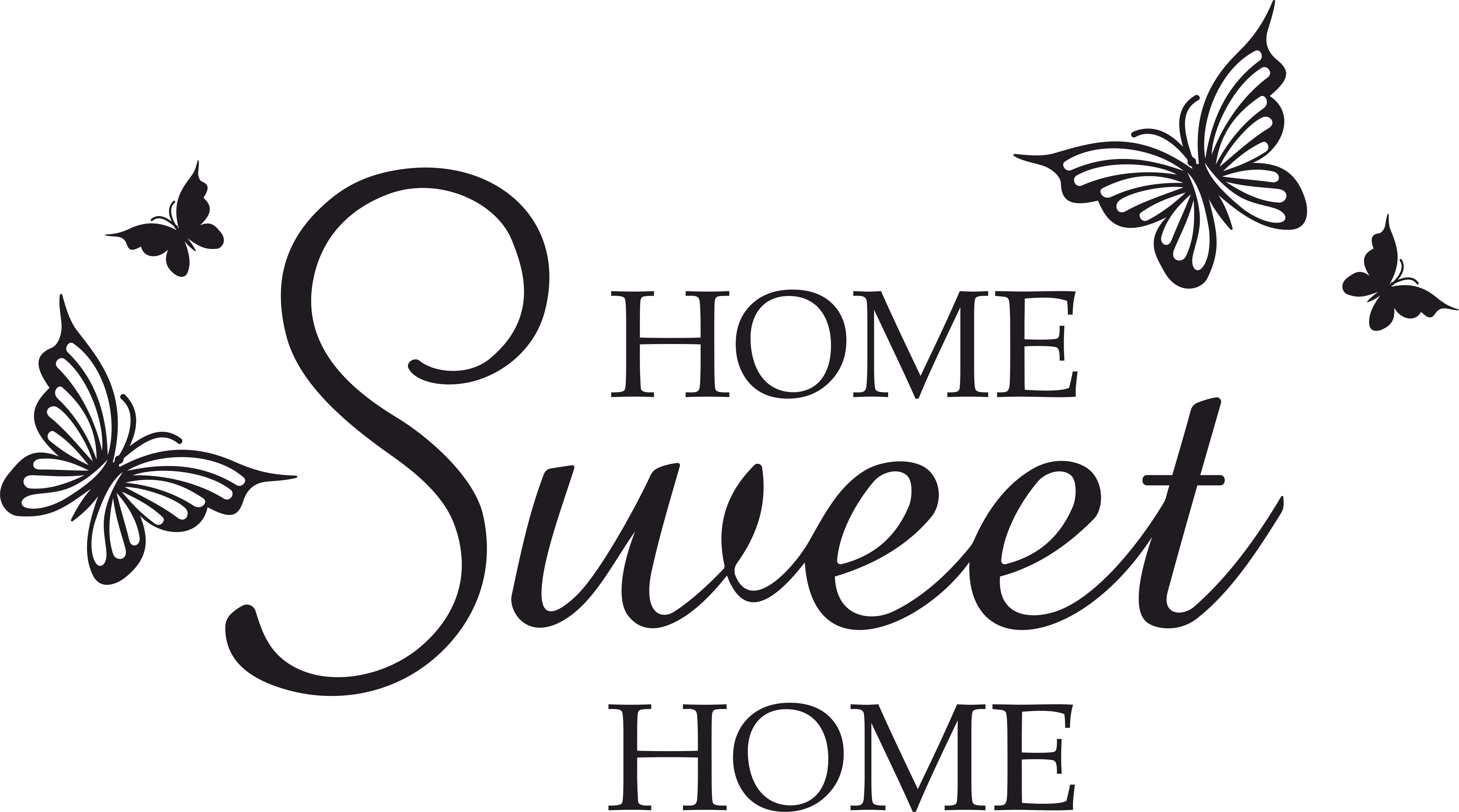 Home Sweet Home Butterfly SVG, DXF, EPS, png, by vectordesign on