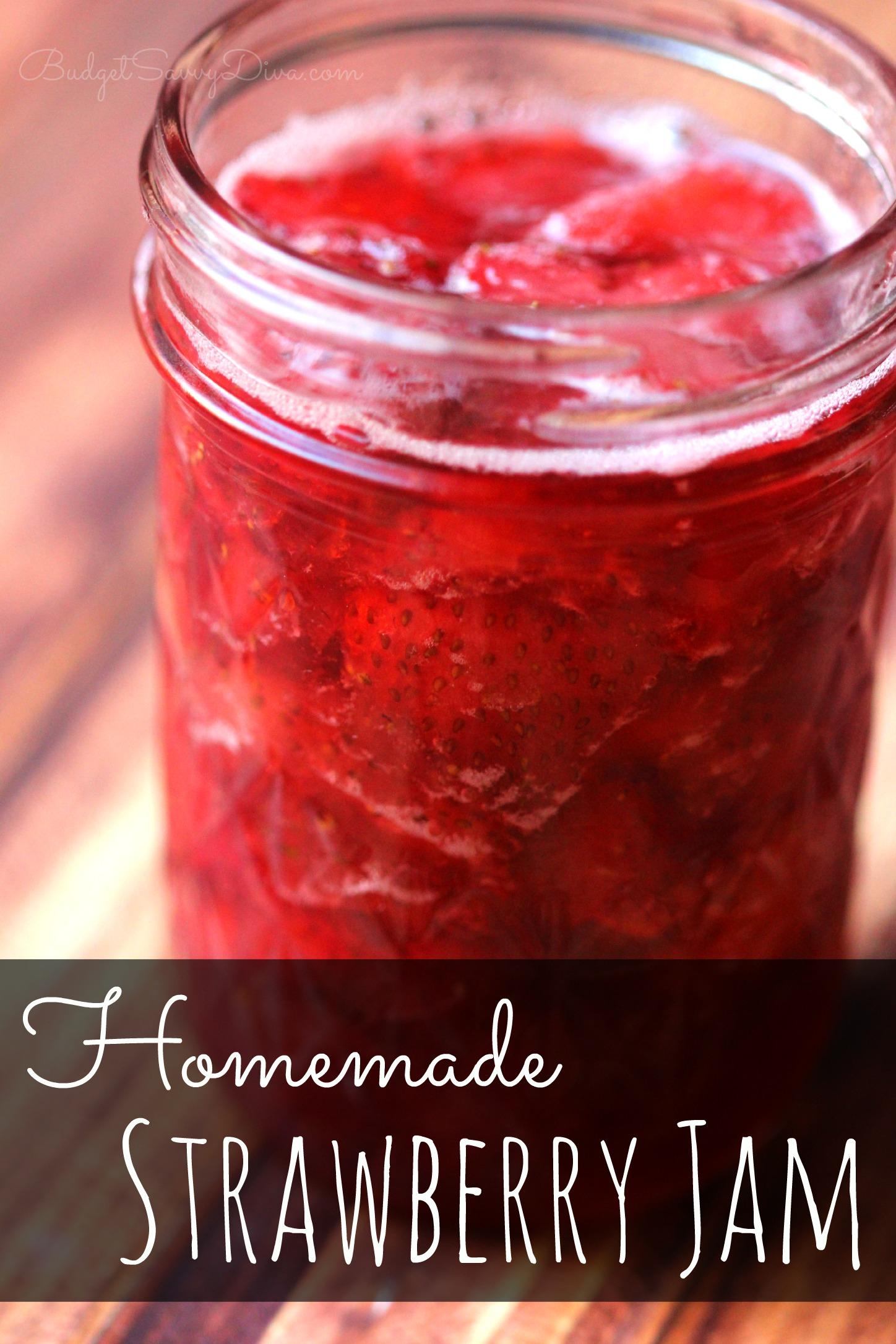 Homemade Strawberry Jam – Marie Recipe   Budget Savvy Diva