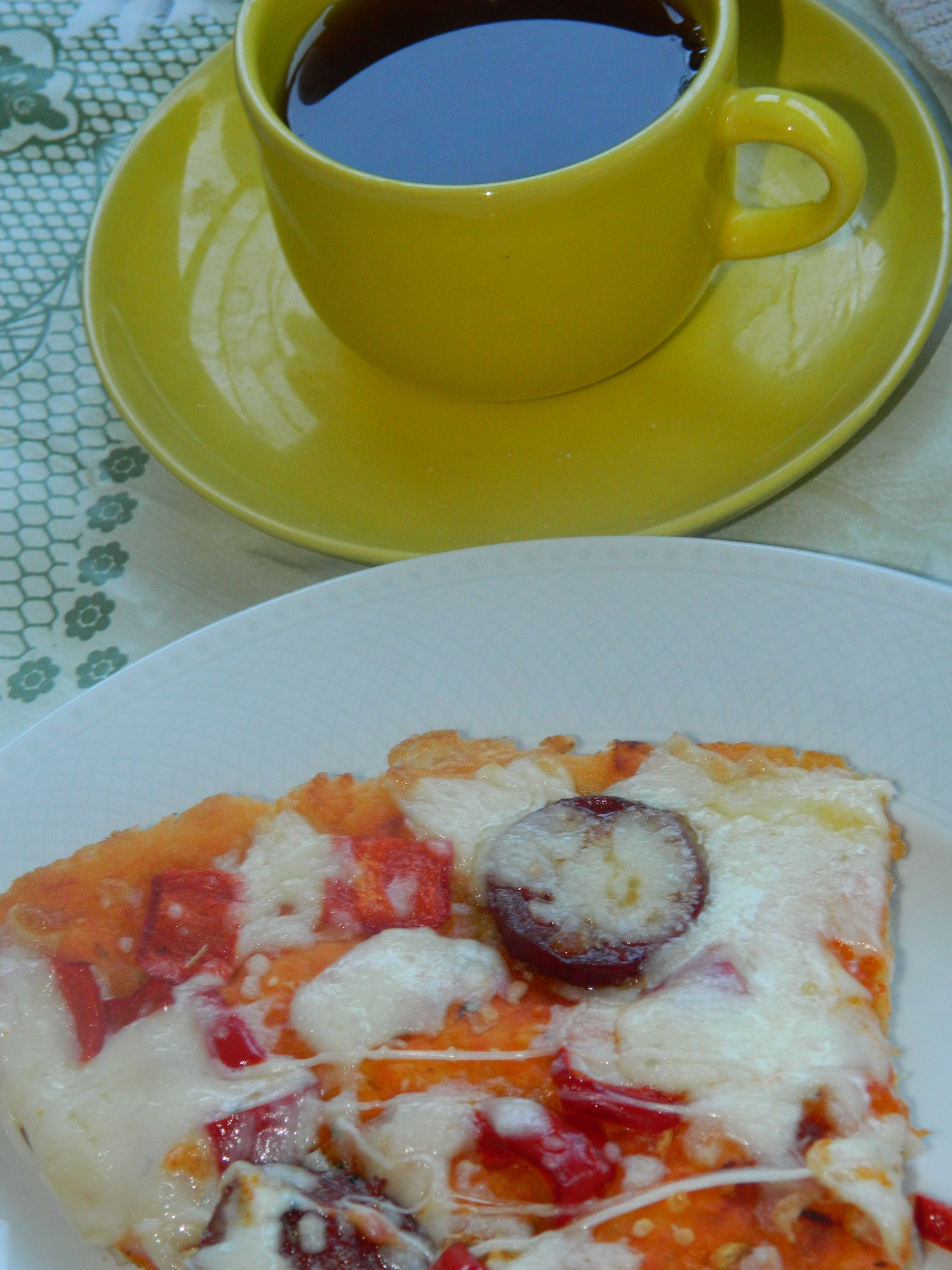 Homemade Pizza and Tea, Breakfast, Delicious, Dinner, Drink, HQ Photo
