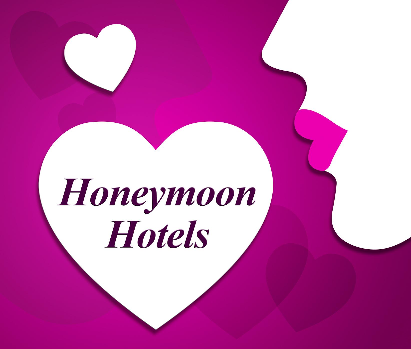 Honeymoon hotels indicates getaway destination and reserve photo