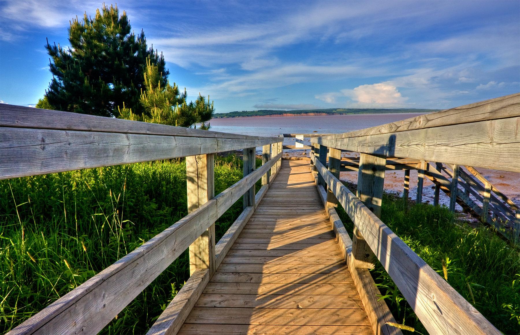 Hopewell beach boardwalk - hdr photo