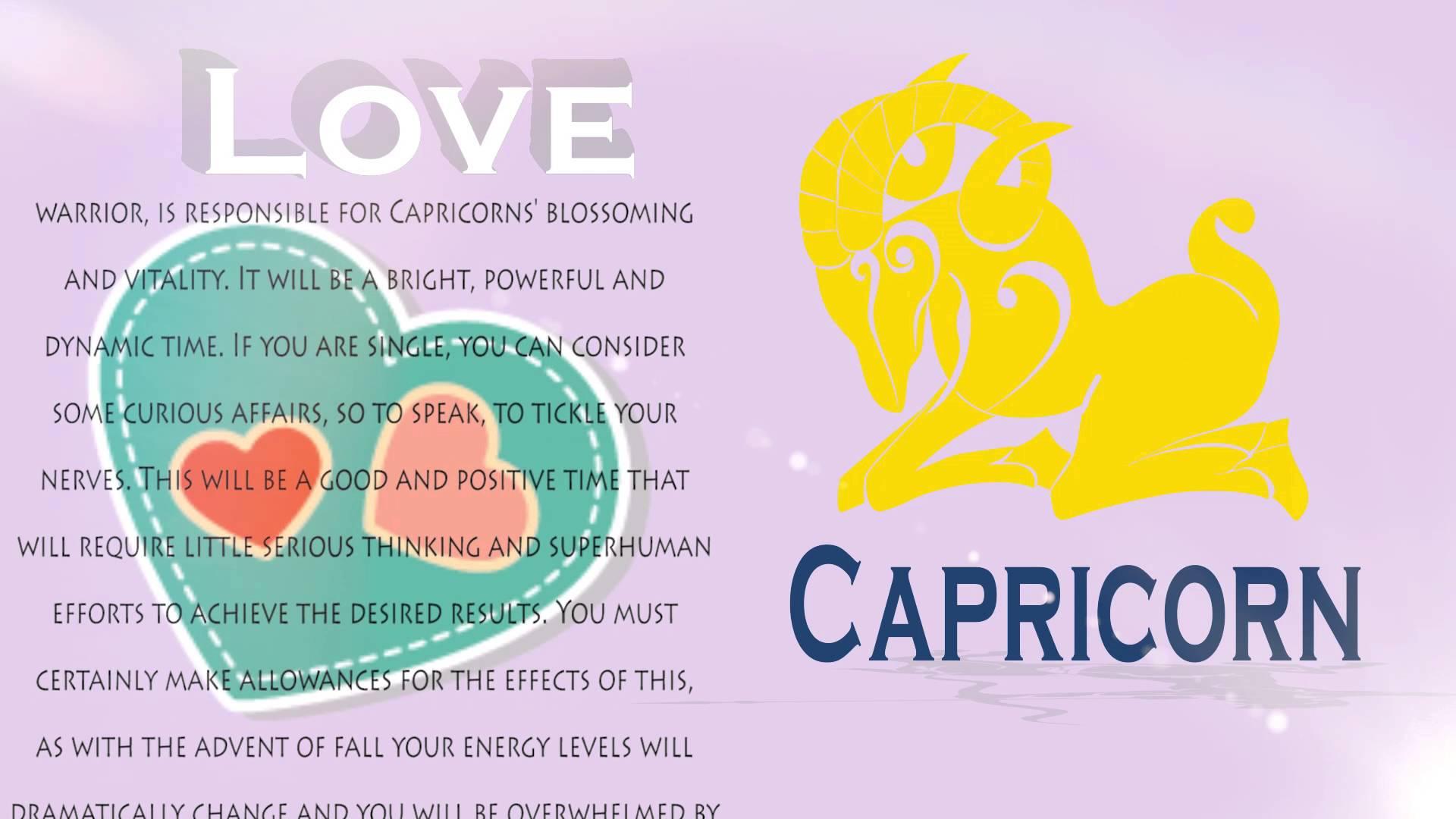 Capricorn 2016 Love horoscope - YouTube