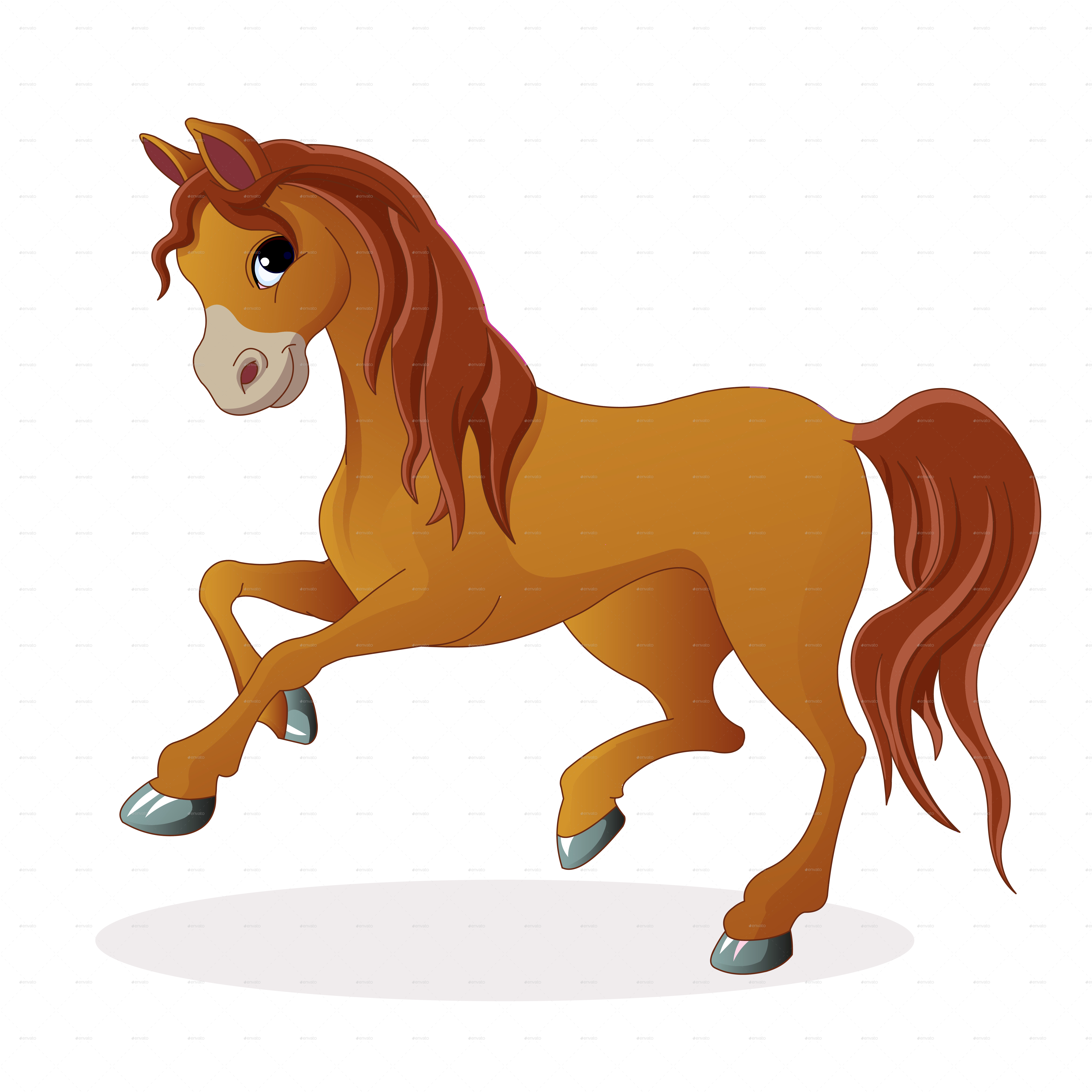 Brown Pony Horse by nael005 | GraphicRiver