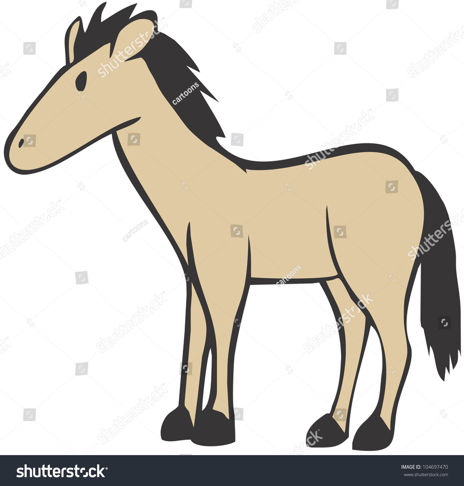 Simple Cute Horse Illustration Stock Vector HD (Royalty Free ...