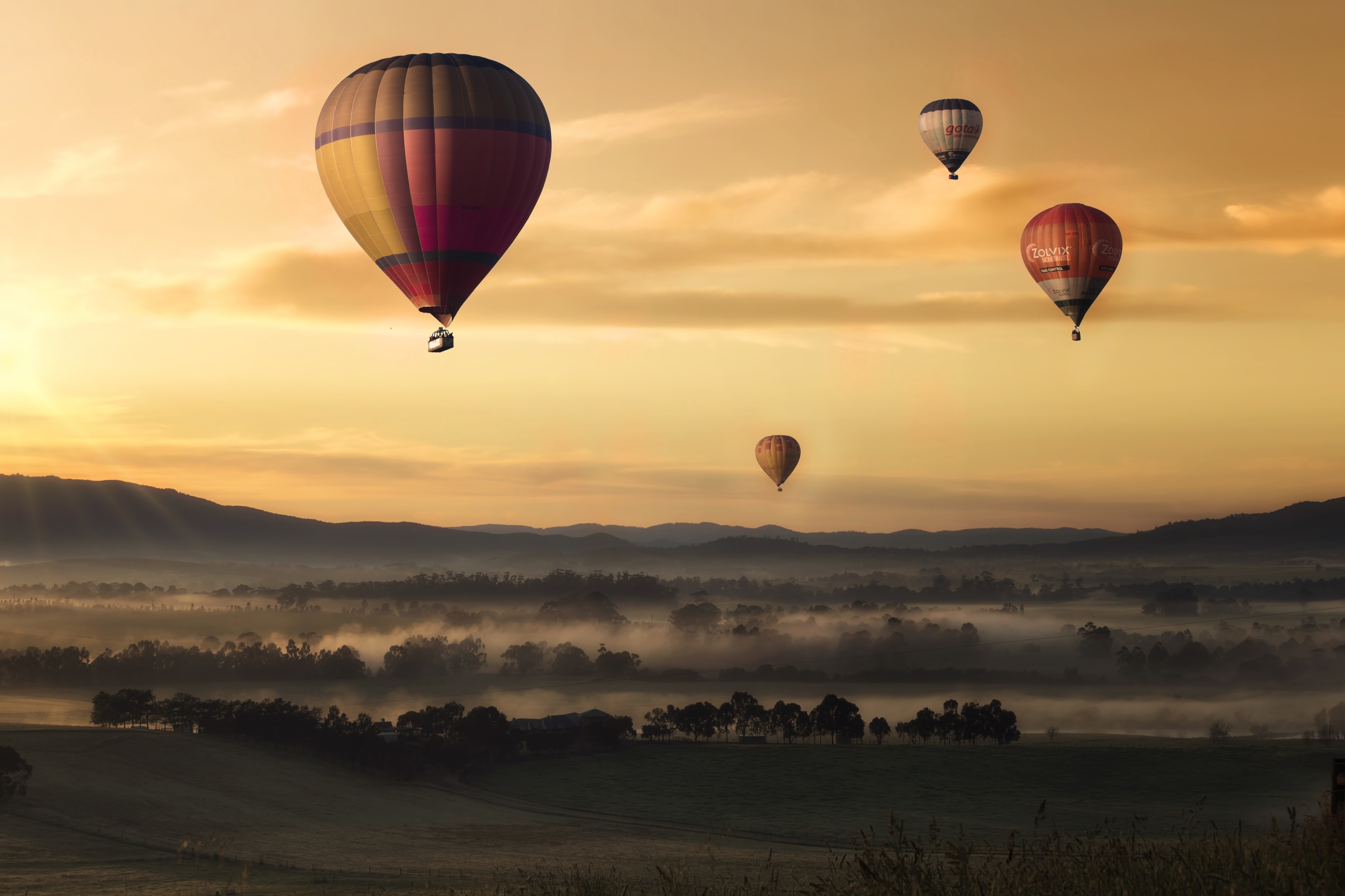 Hot Air Balloon, Adventure, Balloons, Dawn, Dusk, HQ Photo
