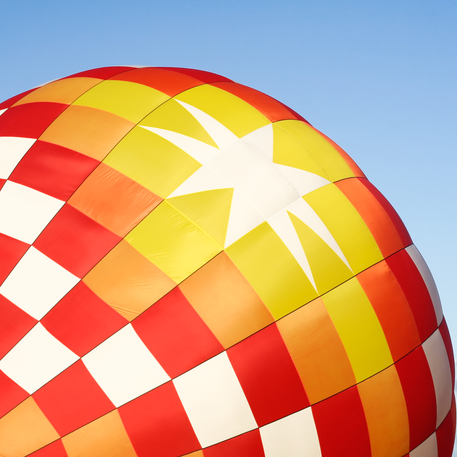 Hot air balloon close-up photo