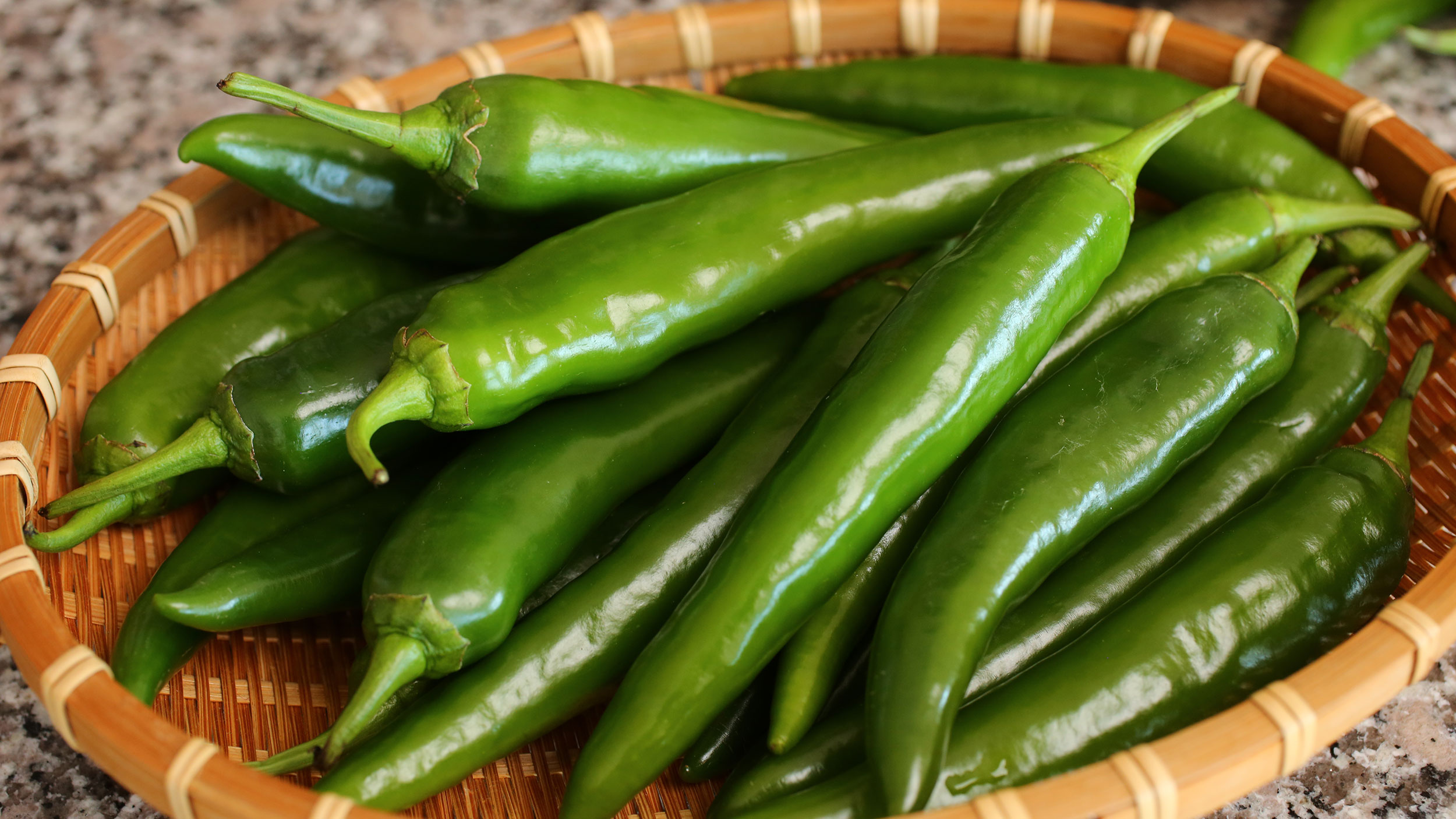 Hot green chillies photo
