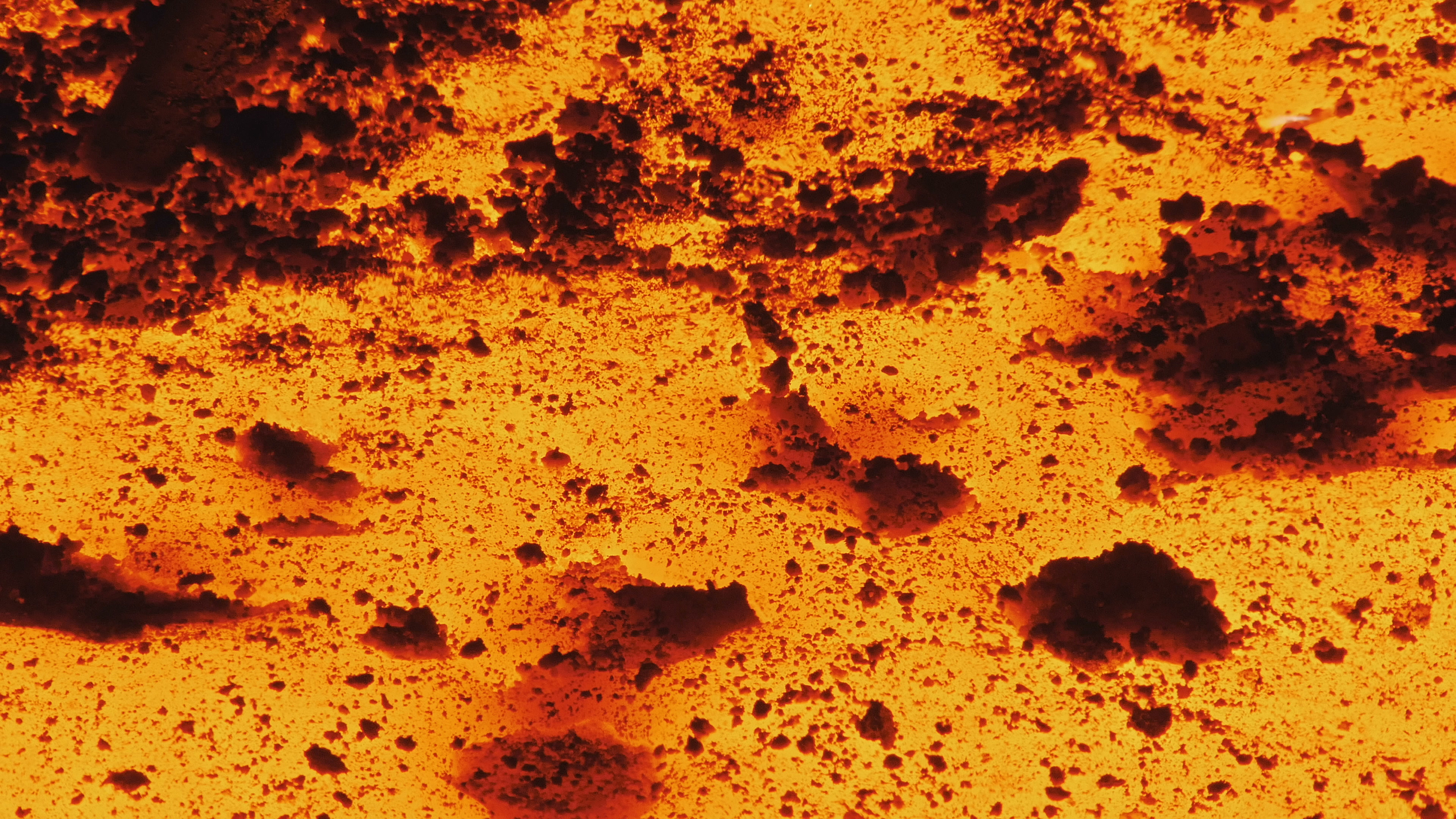 View of Molten metal, red-hot aluminium ~ Hi Res #75167956