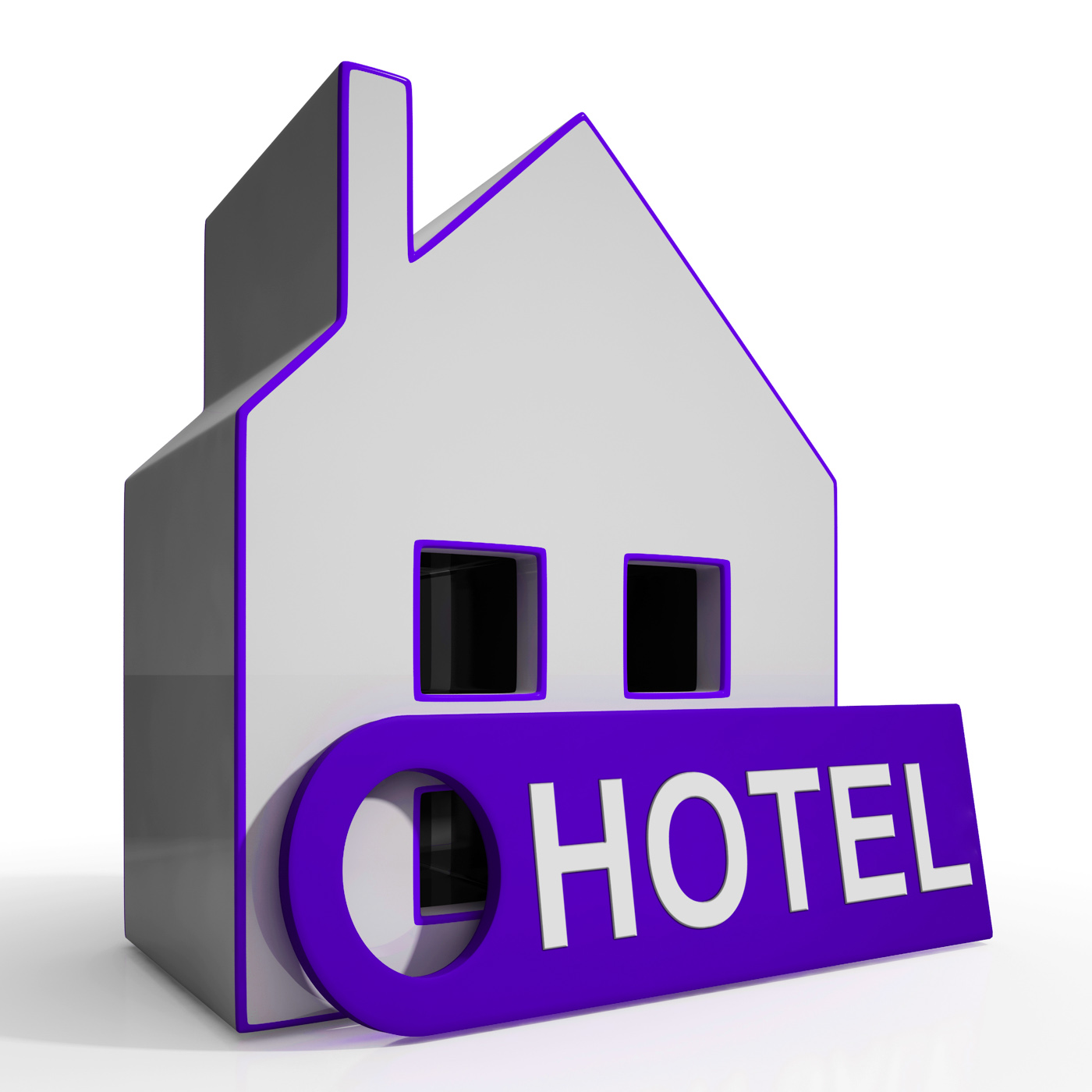 Hotel house means holiday accommodation and vacant rooms photo