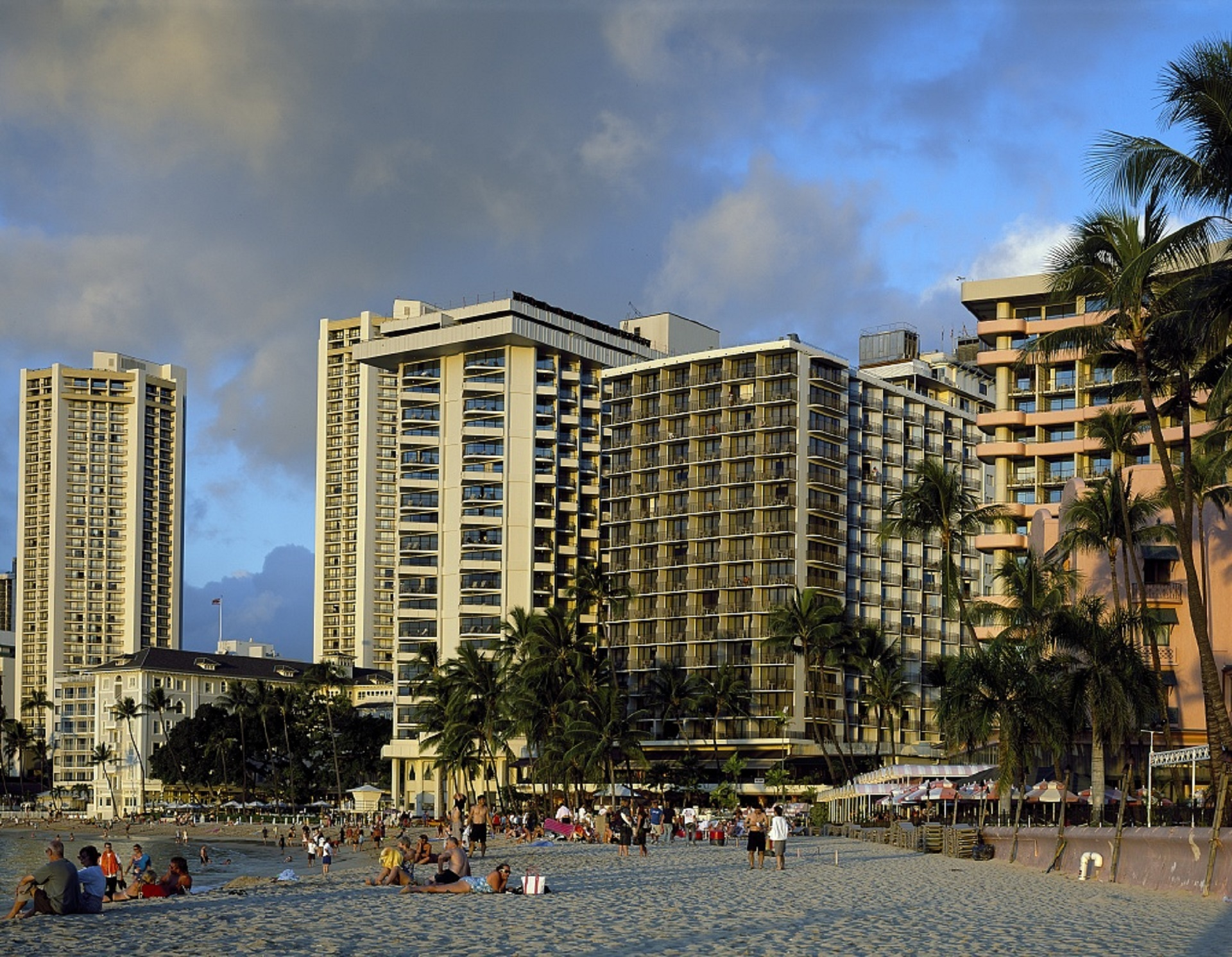 Hotels on the shore photo