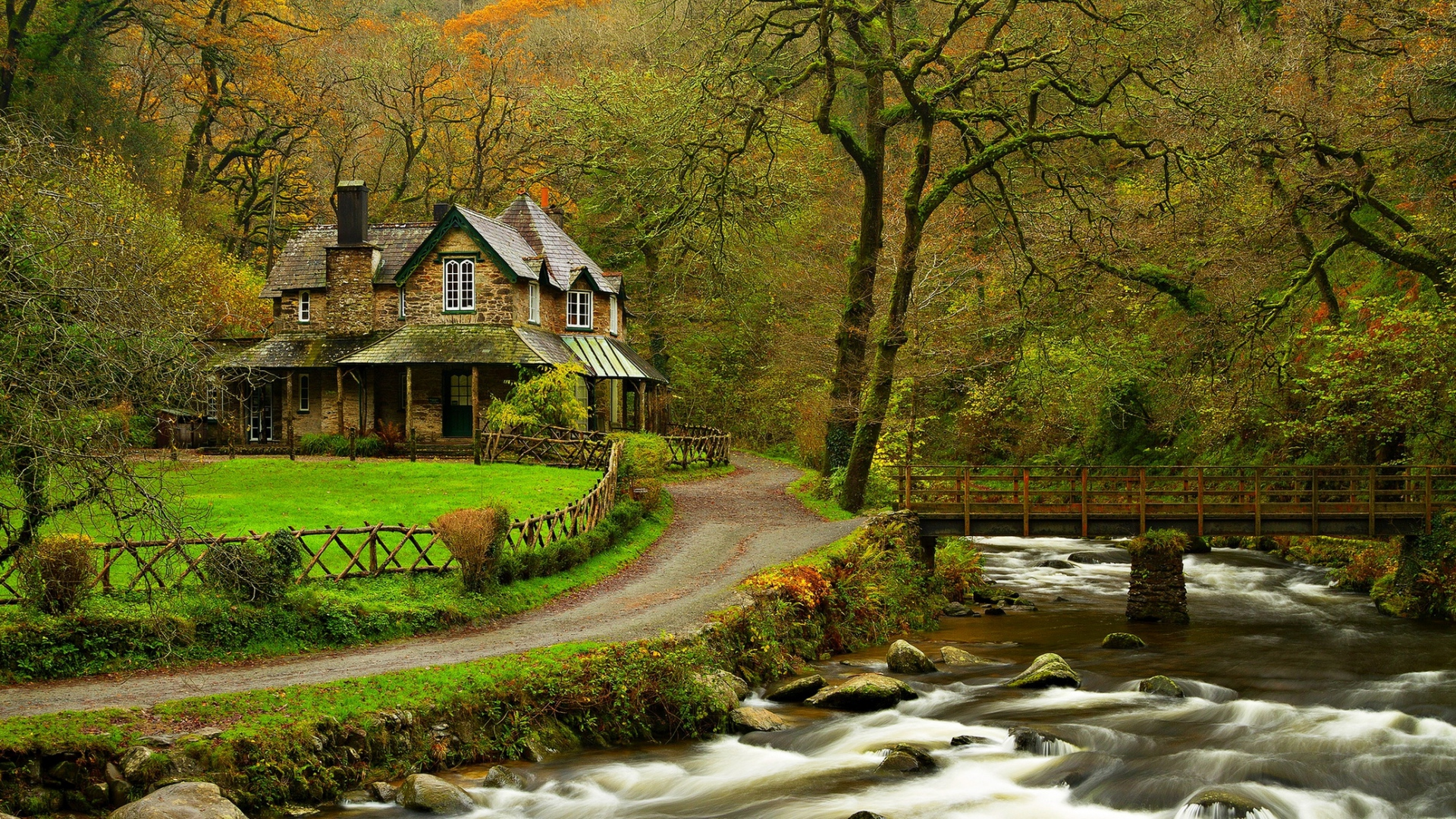 Nature River House - HD Wallpapers - Free Wallpapers - Desktop ...
