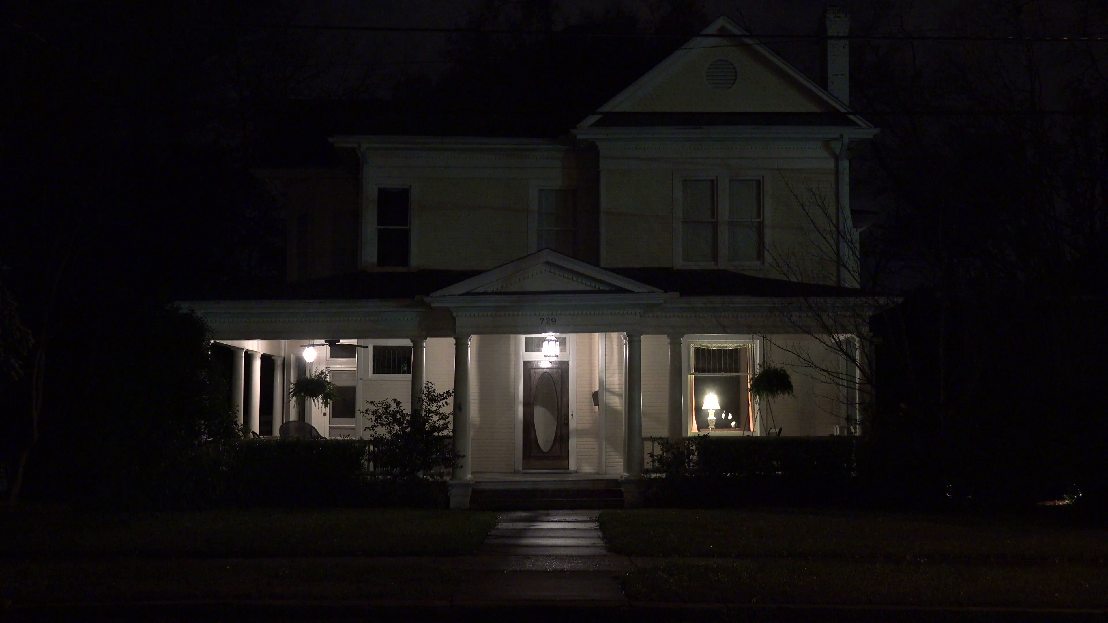 An attractive old American house at night. Stock Video Footage ...