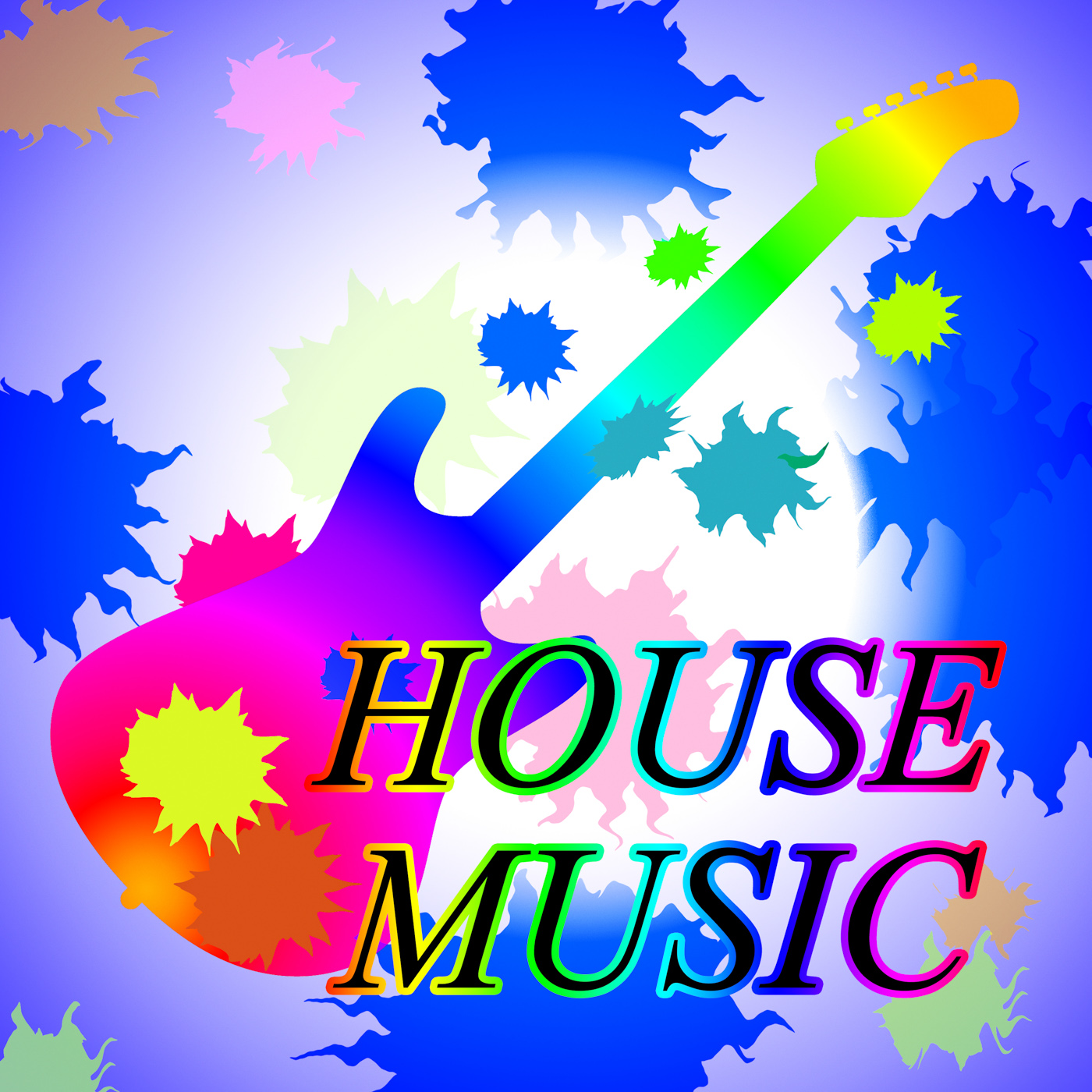 House music indicates sound track and audio photo