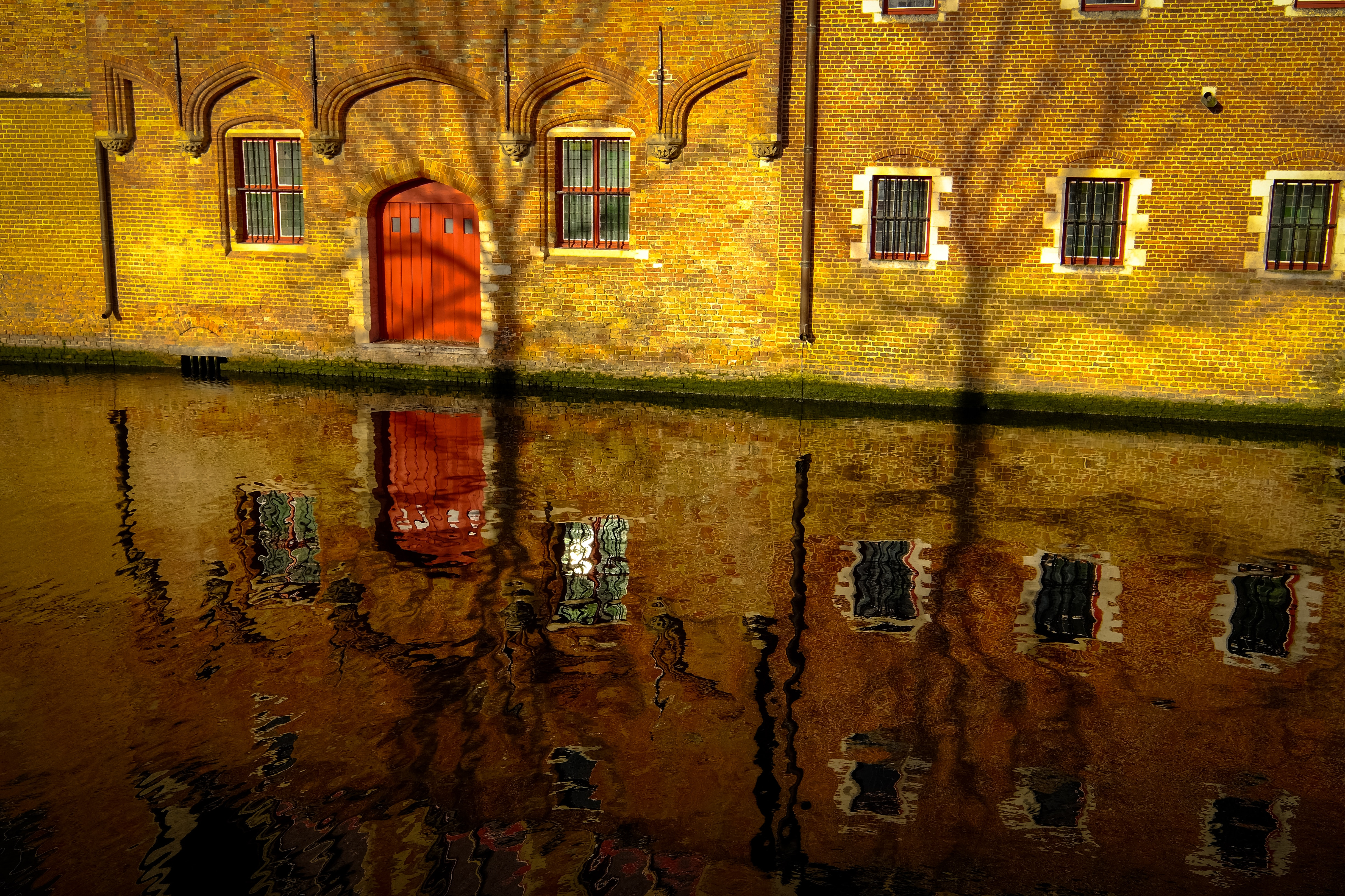 House Reflection, Abandoned, Old, Water, Wall, HQ Photo