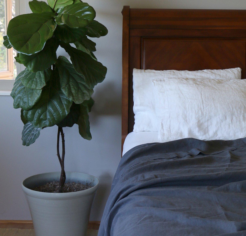 Linen Summer Cover | Rough Linen Lightweight 100% Linen Blanket