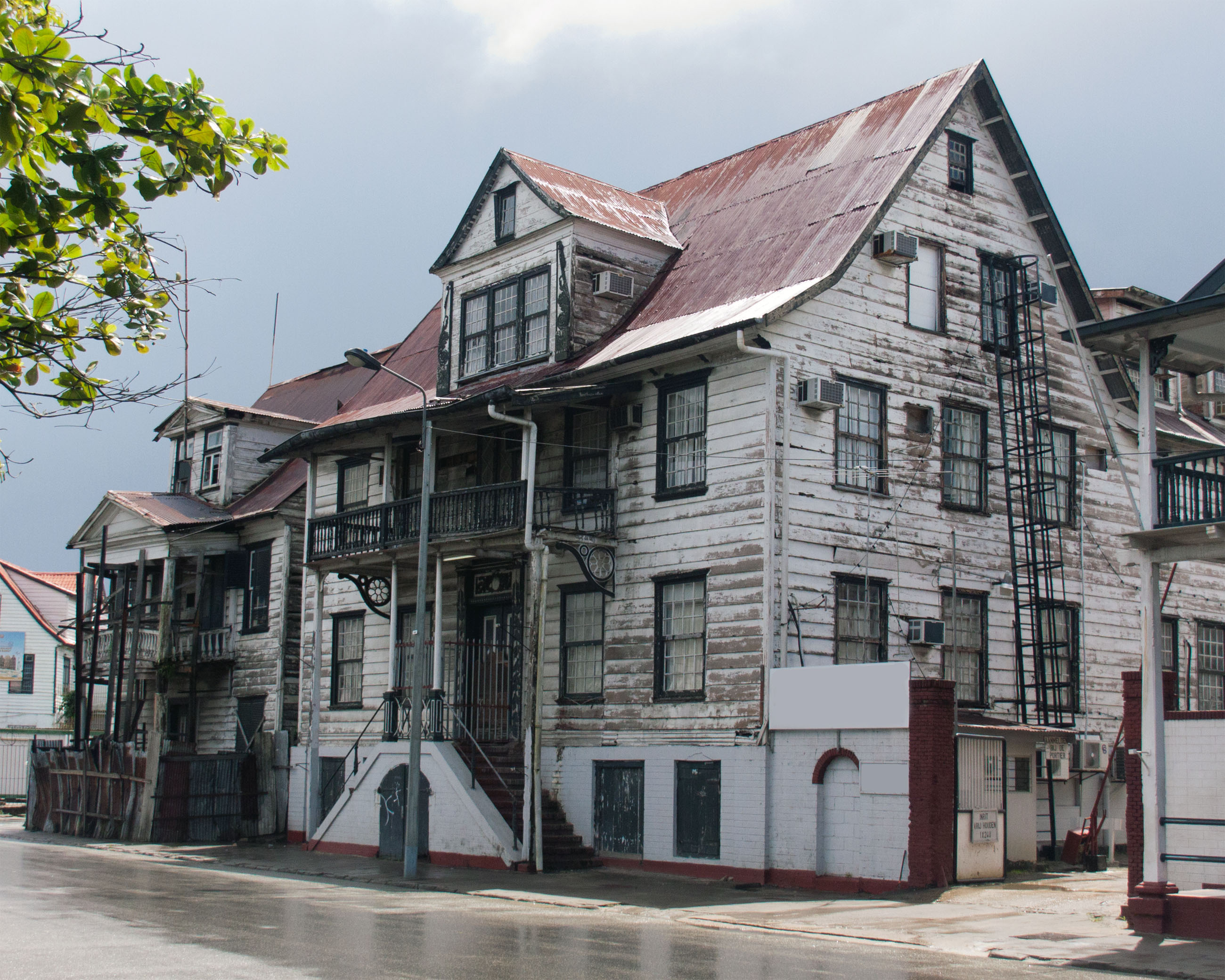 Houses in the city of paramaribo photo
