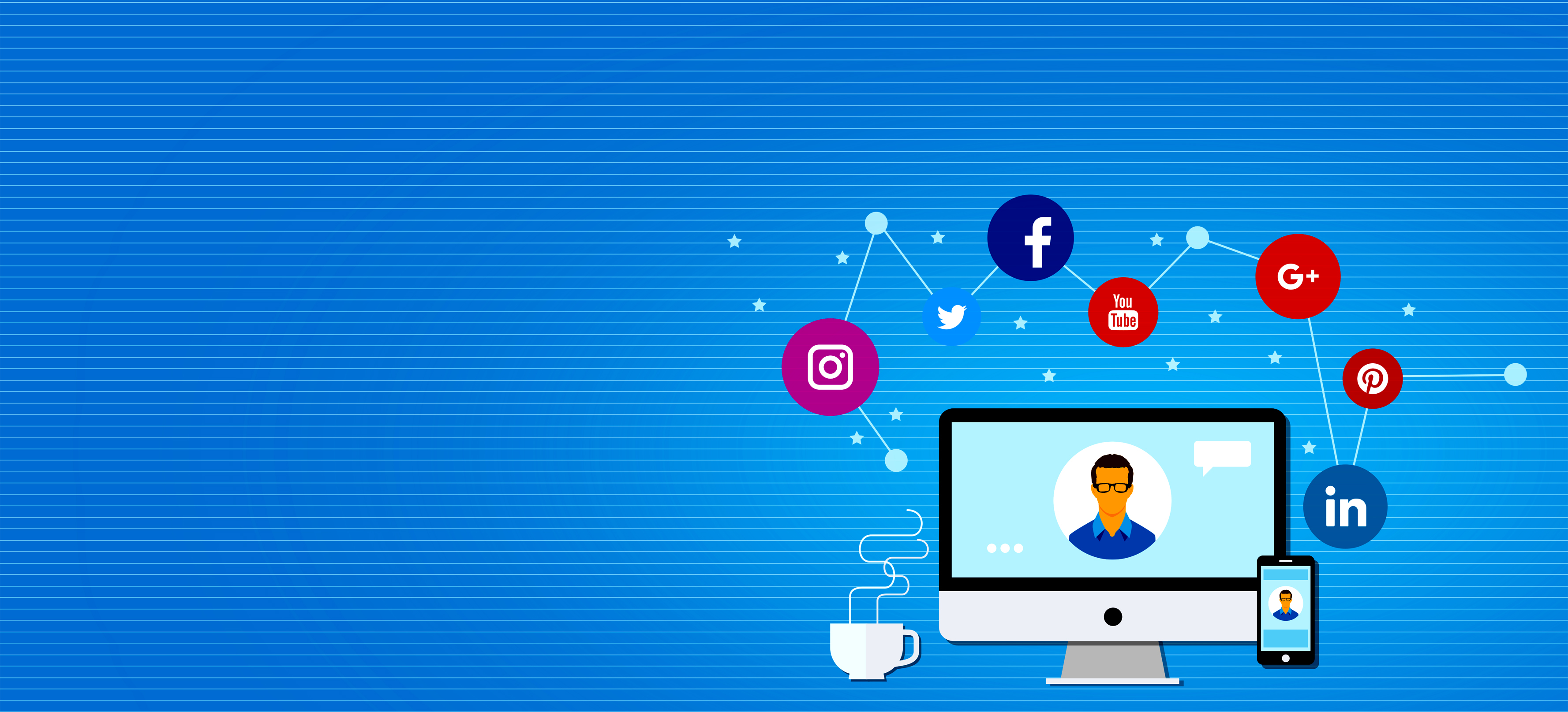 How to drive traffic to a website using social media networks photo