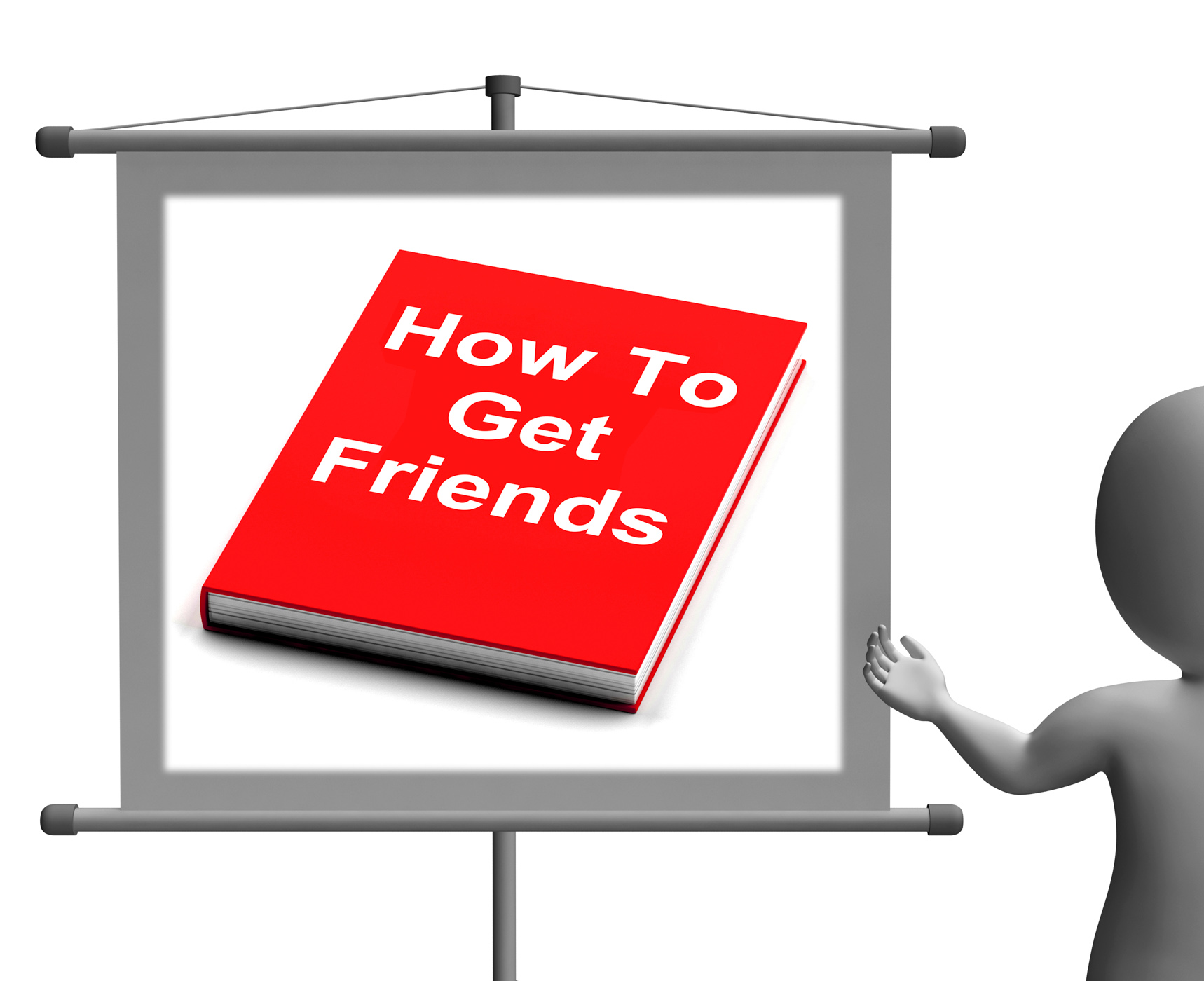 How To Get Friends Sign Shows Friendly Social Life, Pile, Studying, Study, Stack, HQ Photo