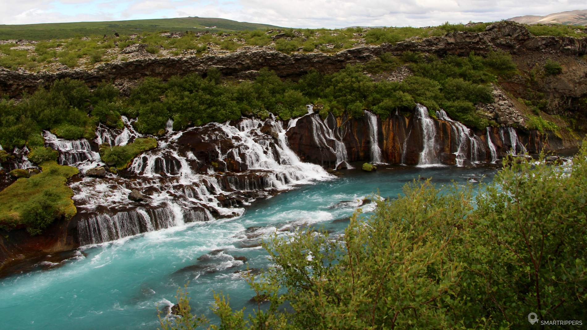 Hraunfossar cascades photo