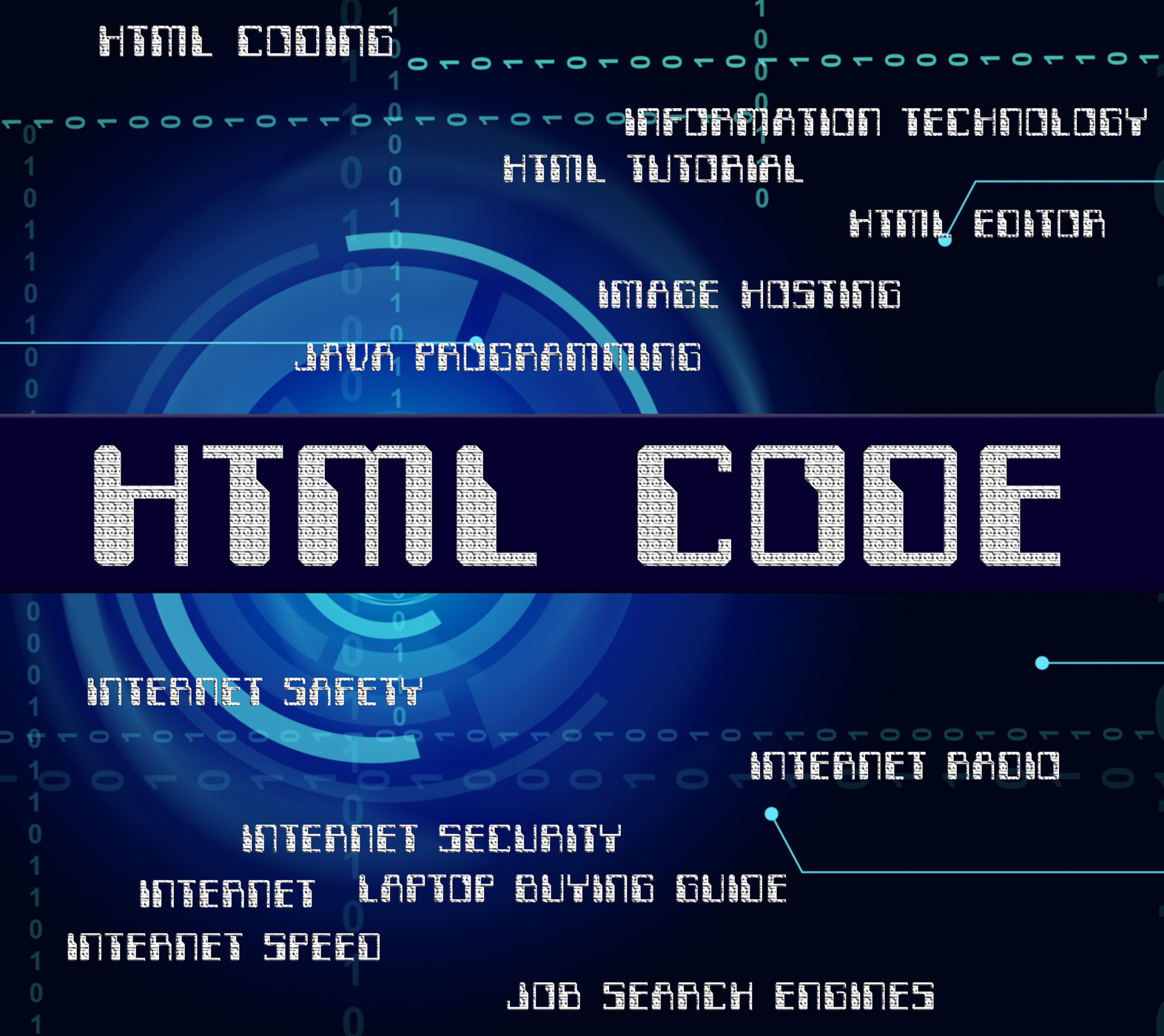 Html code shows hypertext markup language and cipher photo