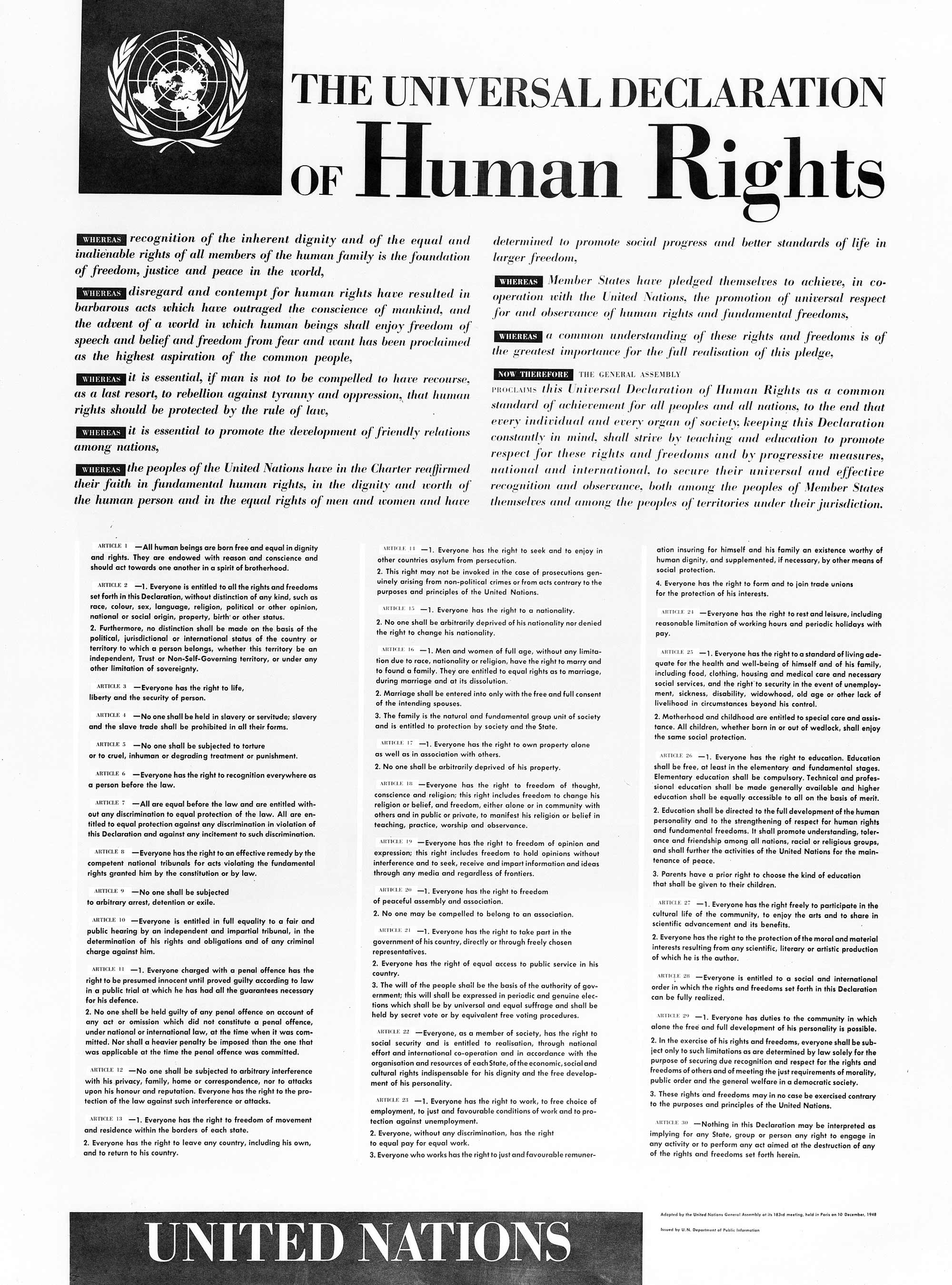 Universal Declaration of Human Rights - Wikipedia