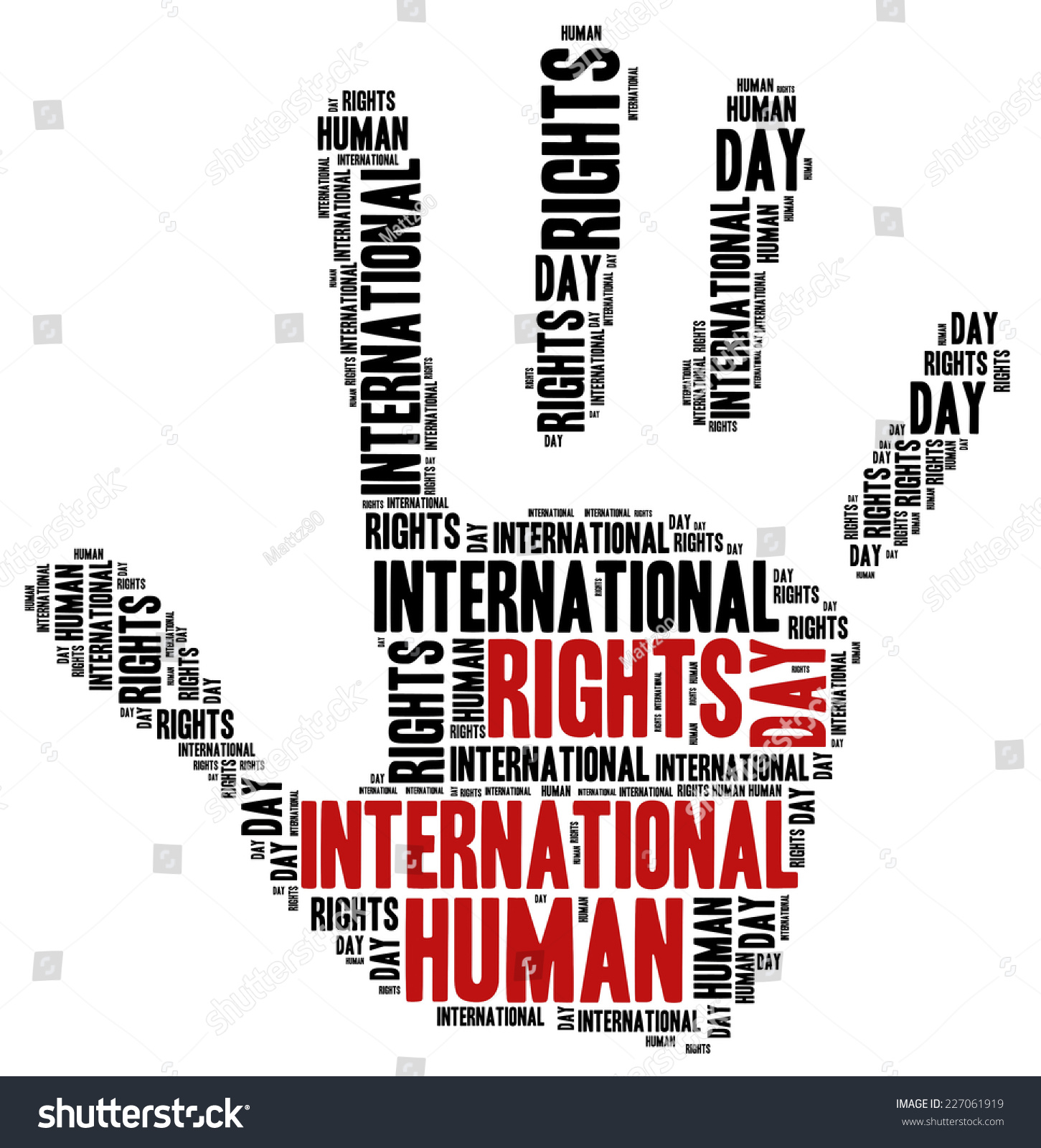 International Human Rights Day Word Cloud Stock Illustration ...