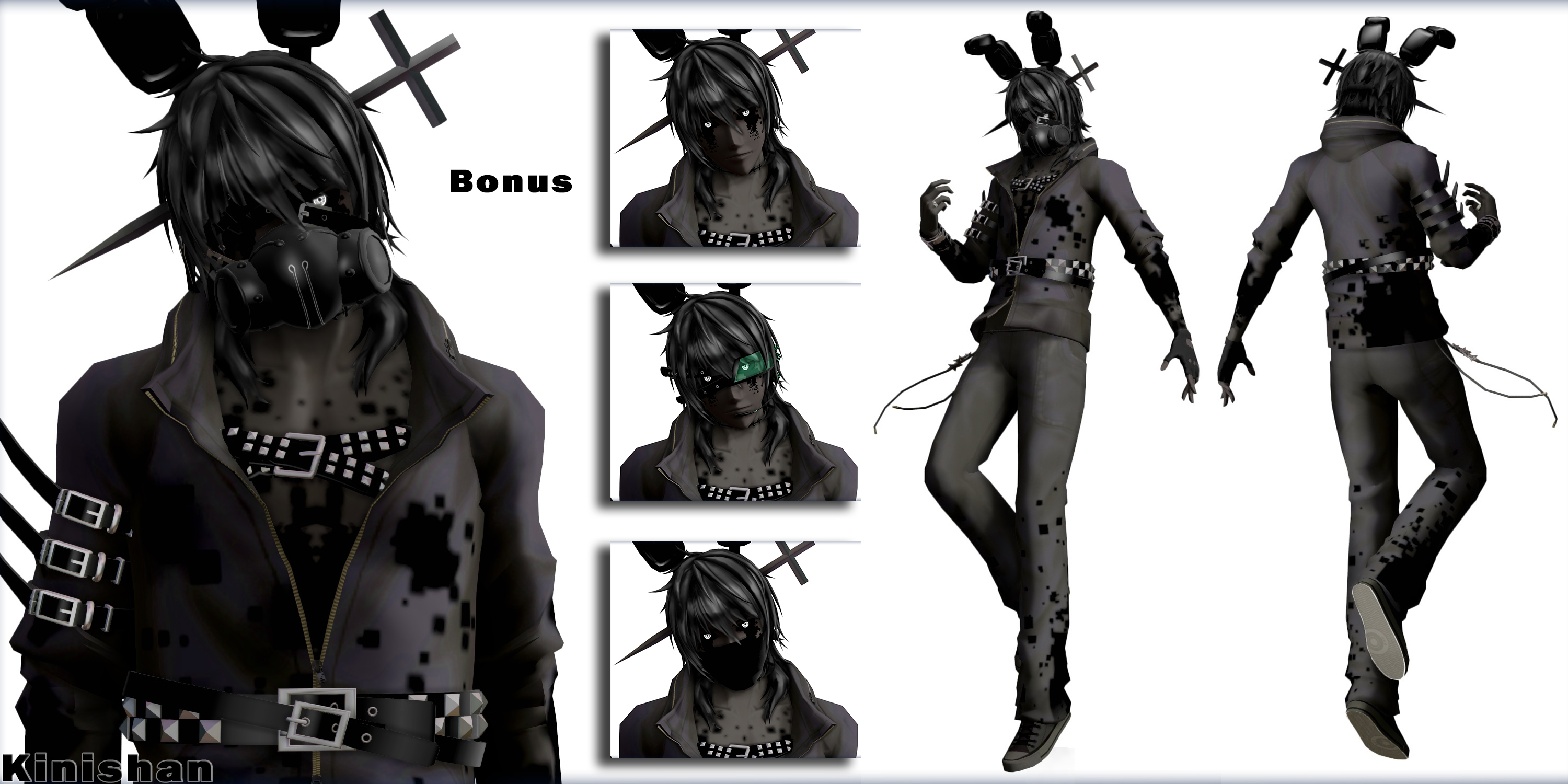 MMD FNAF] (NO DL) Human Shadow Bonnie/RWQFSFASXC by Kinishan on ...