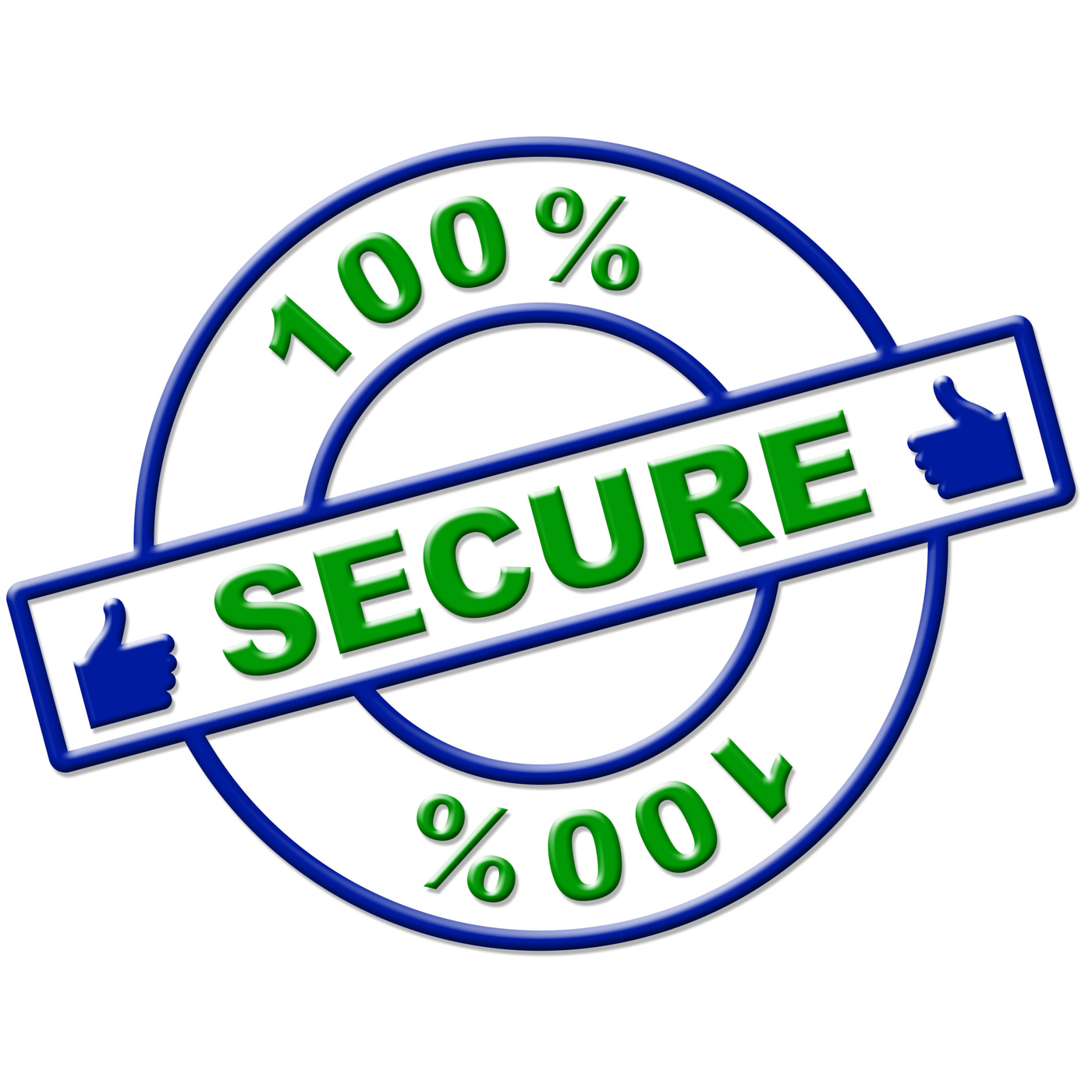 Hundred percent secure indicates login protect and secured photo