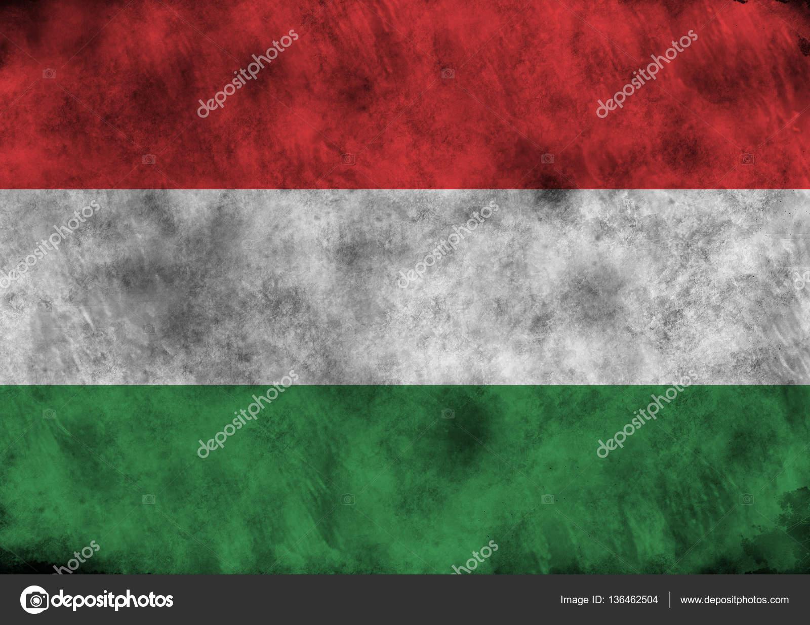 Hungary grunge flag photo