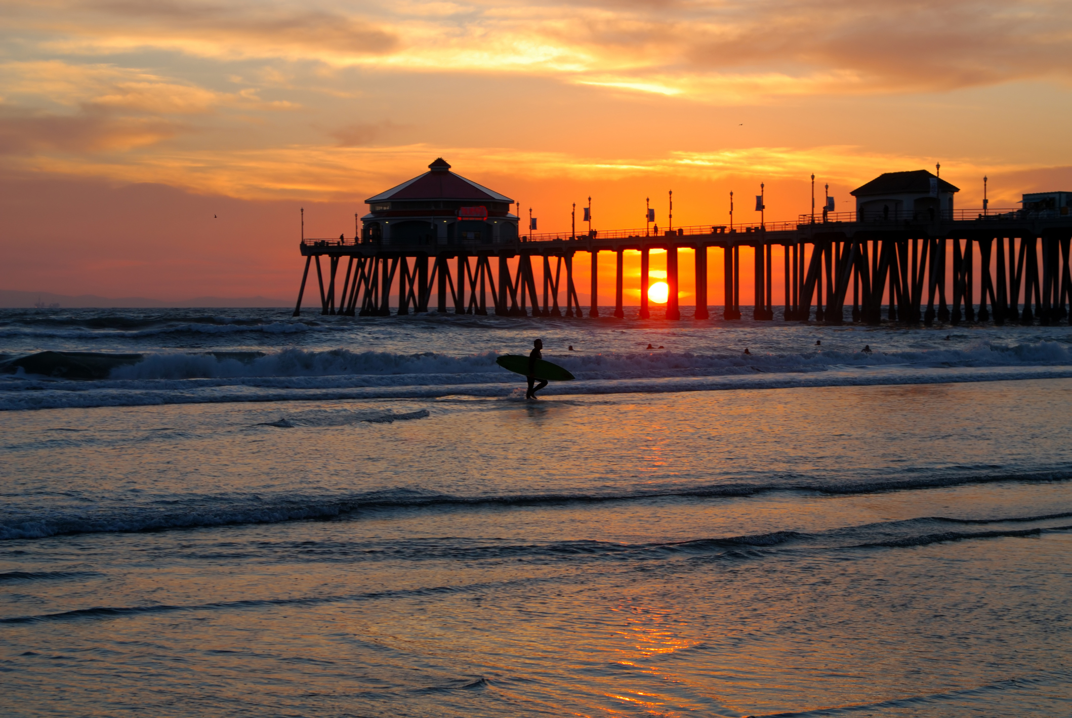 Huntington beach pier photo