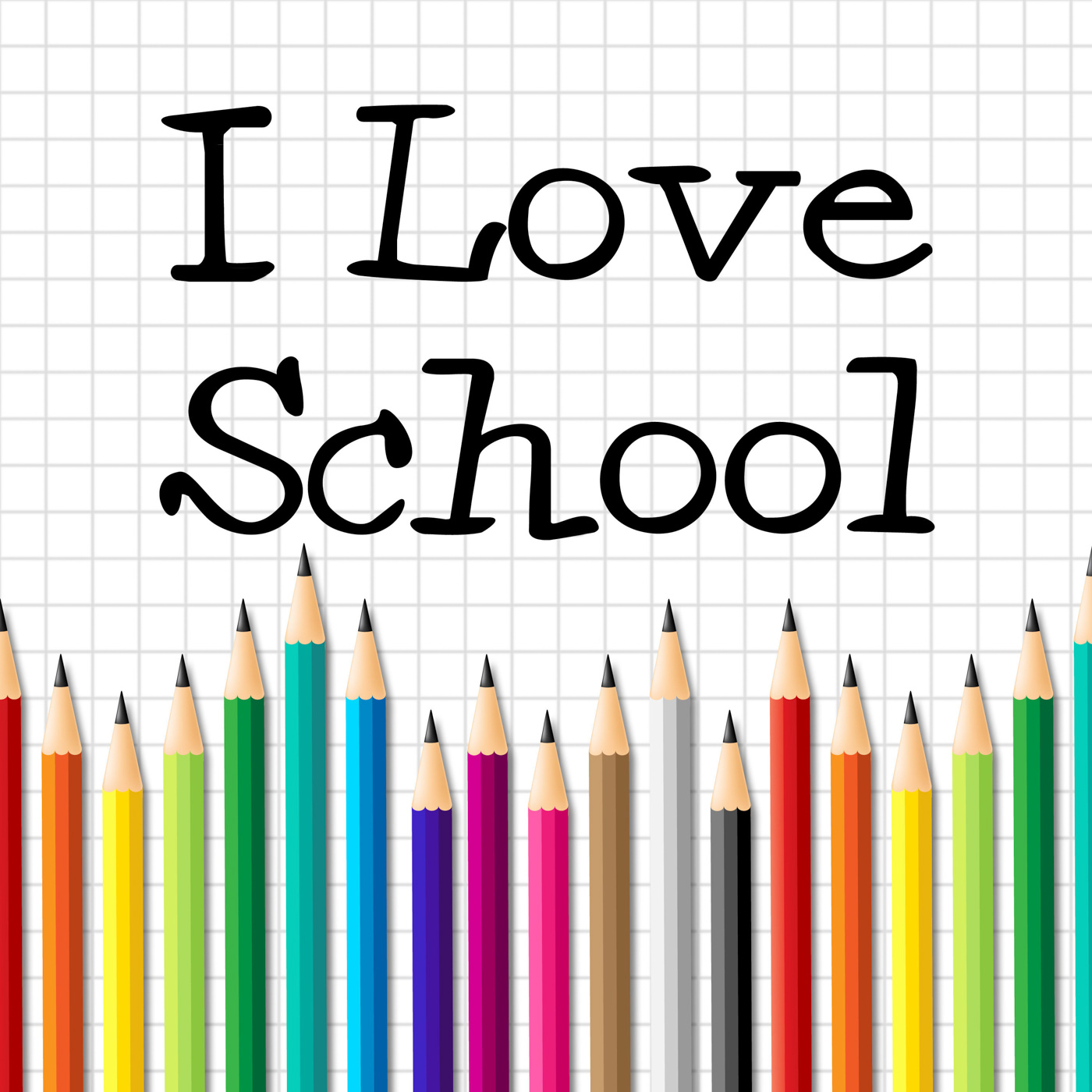 I love school represents education training and kid photo