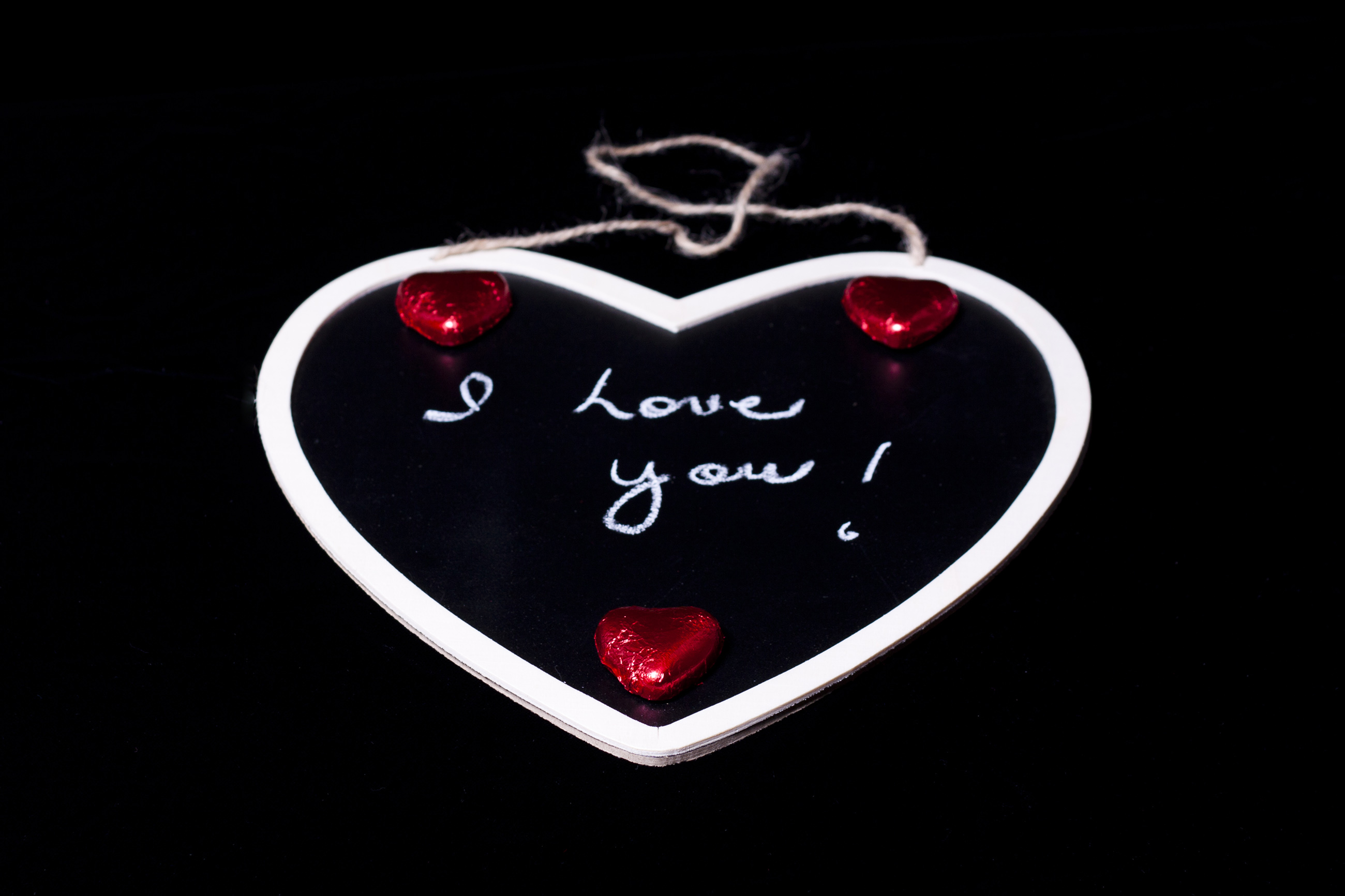 I Love You Chalkboard, You, Symbolic, Message, Note, HQ Photo