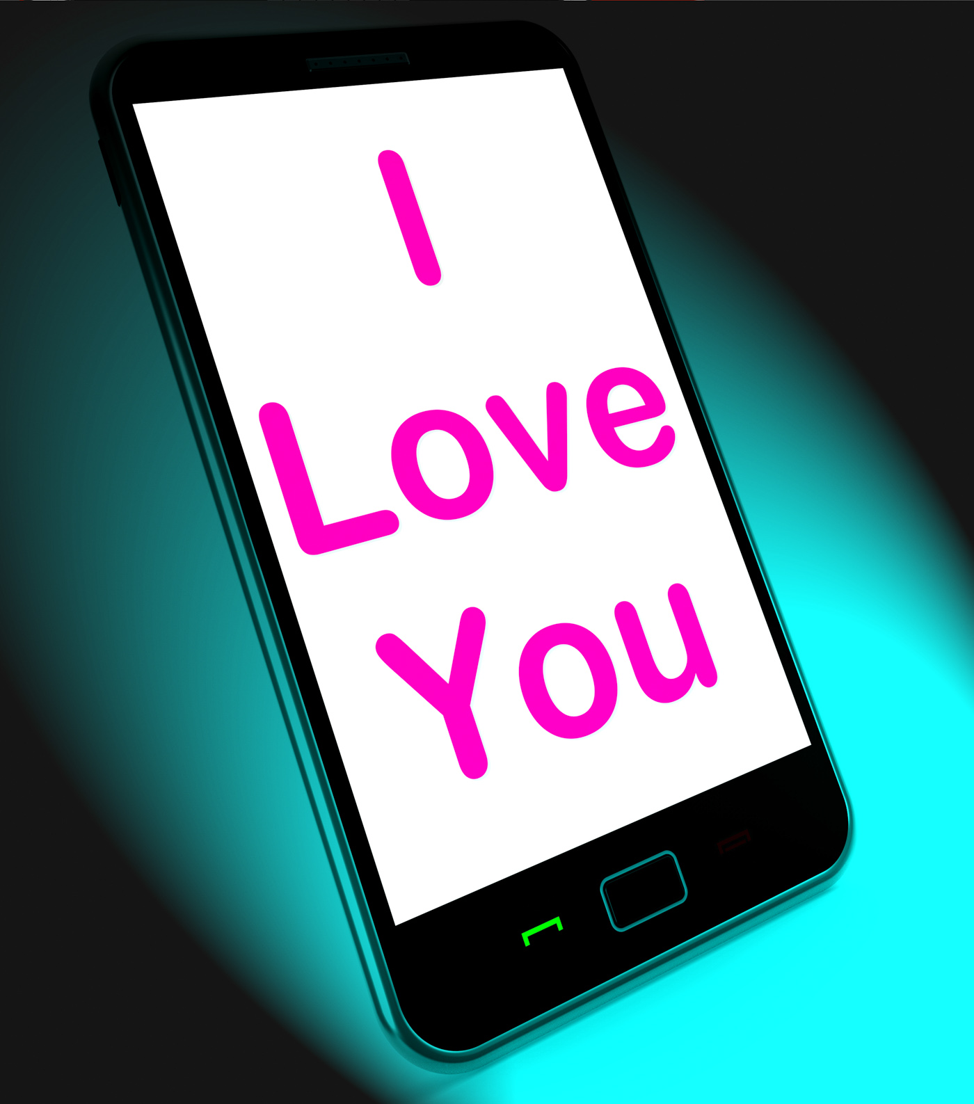I love you on mobile shows adore romance photo