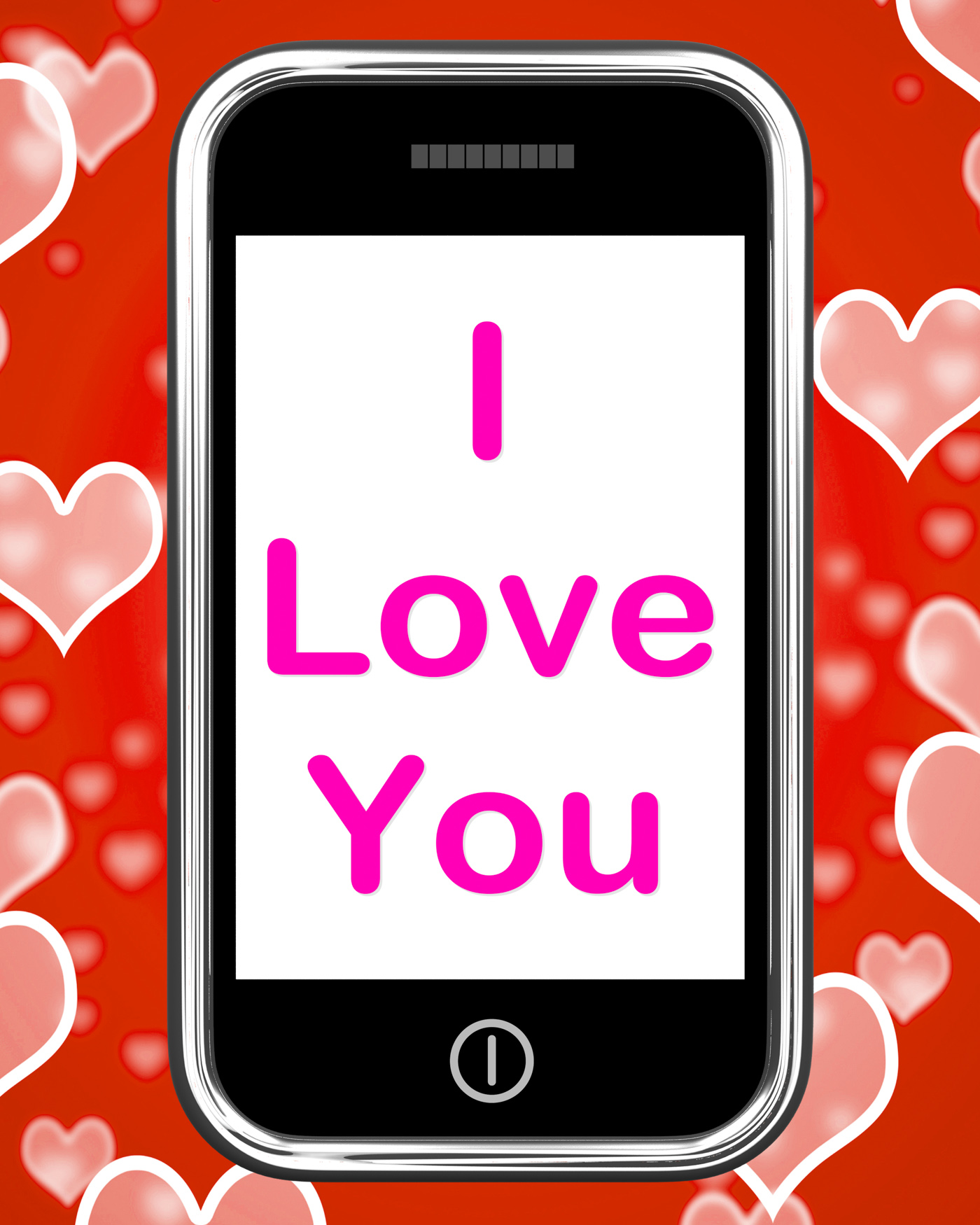 I love you on phone shows adore romance photo