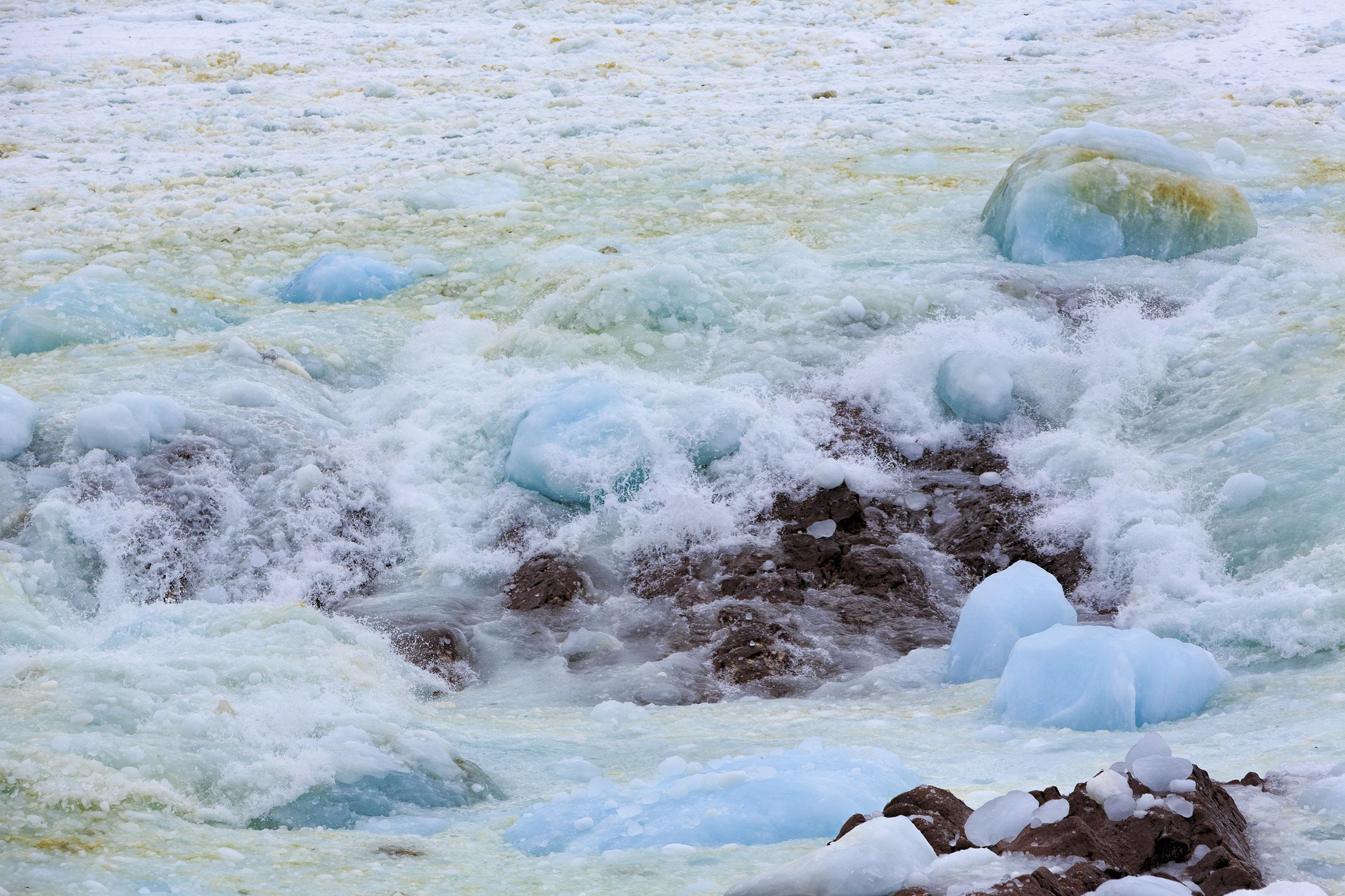 Ice Along the Coast, Atlantic, Newfoundland, Spring, Snow, HQ Photo