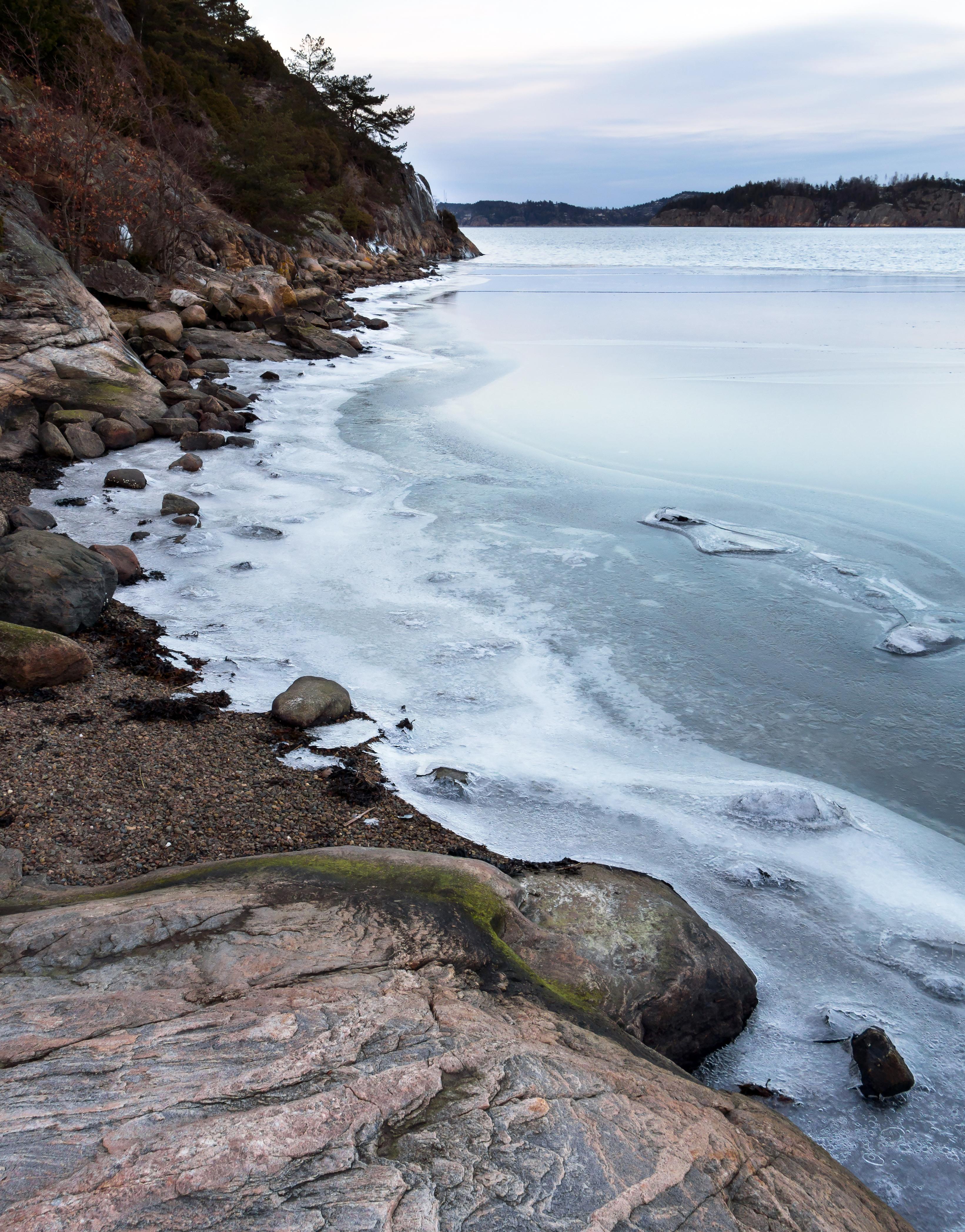 Ice on gullmarn fjord at holma boat club 4 photo